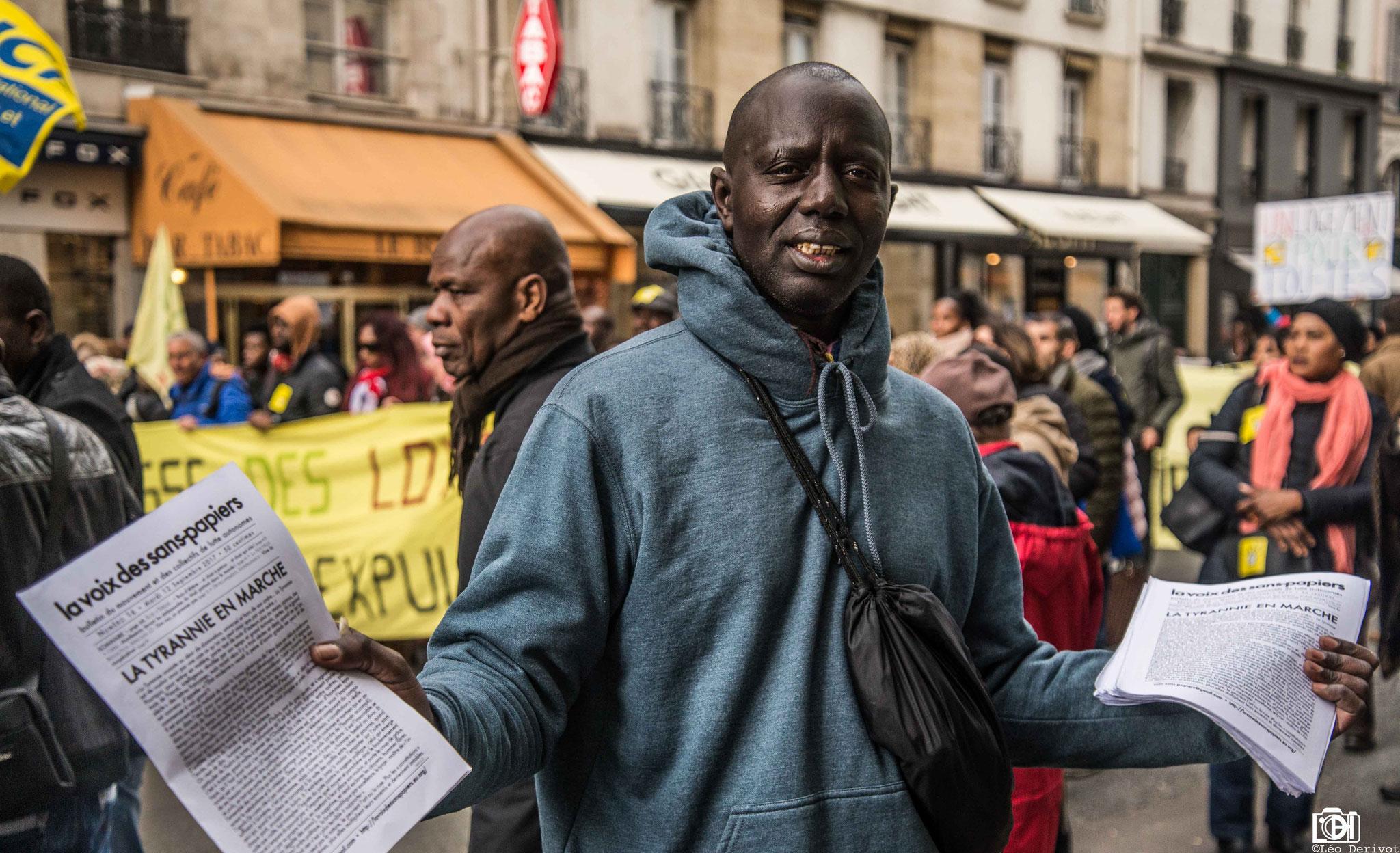 Manifestation Parisienne de soutien aux migrants, 31 Mars 2018