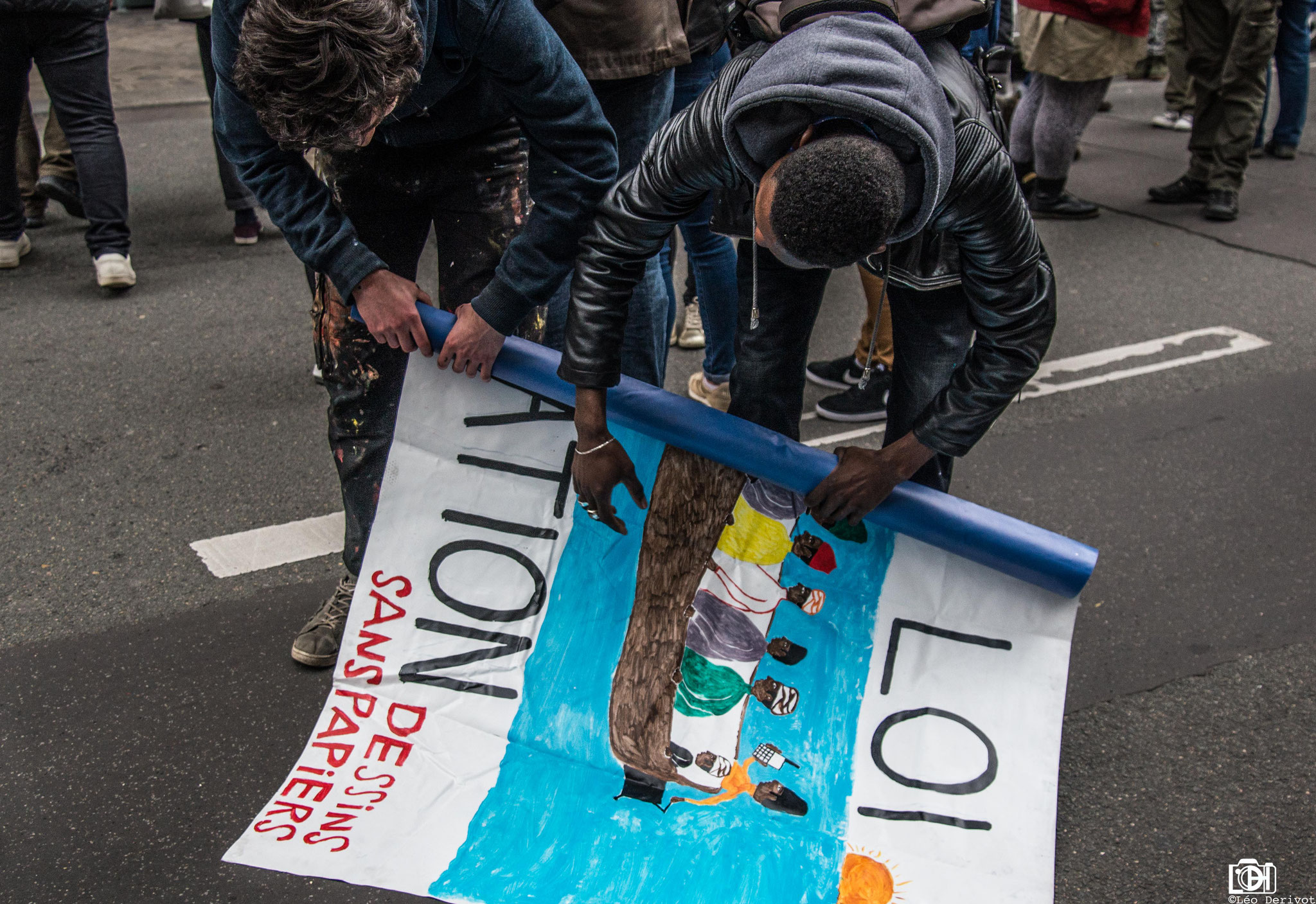 Manifestation Parisienne de soutien aux migrants, 14 Avril 2018