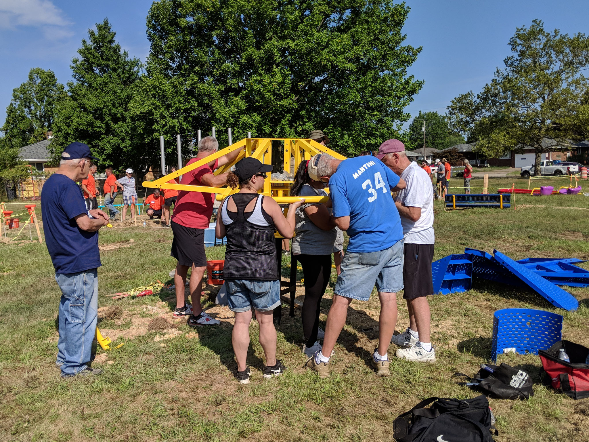 Over 90 community members volunteered to assemble equipment