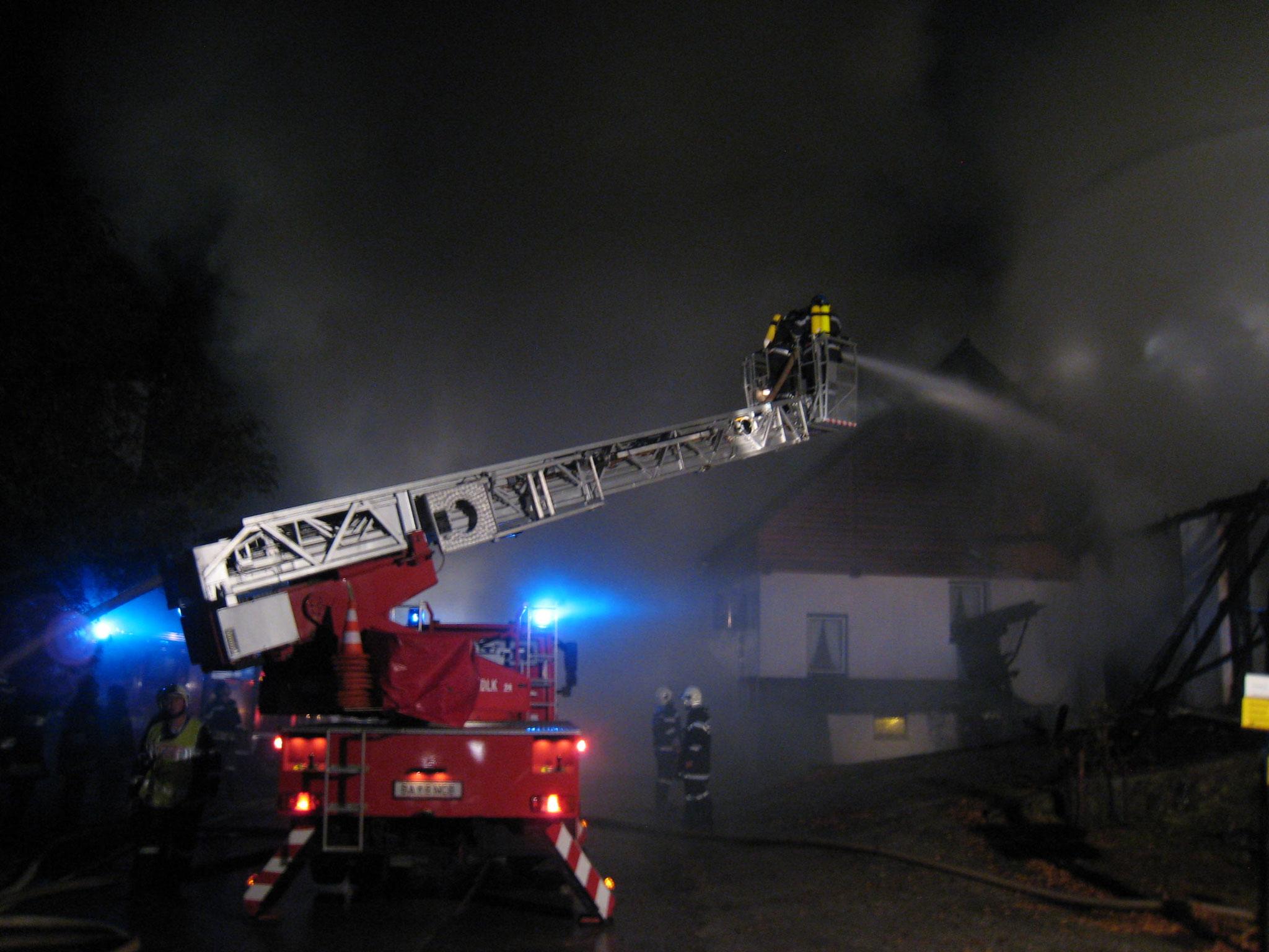 Brand eines Gasthofes in Obersdorf