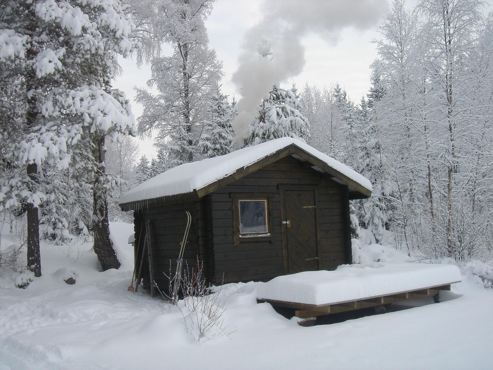Die Sauna im Winter