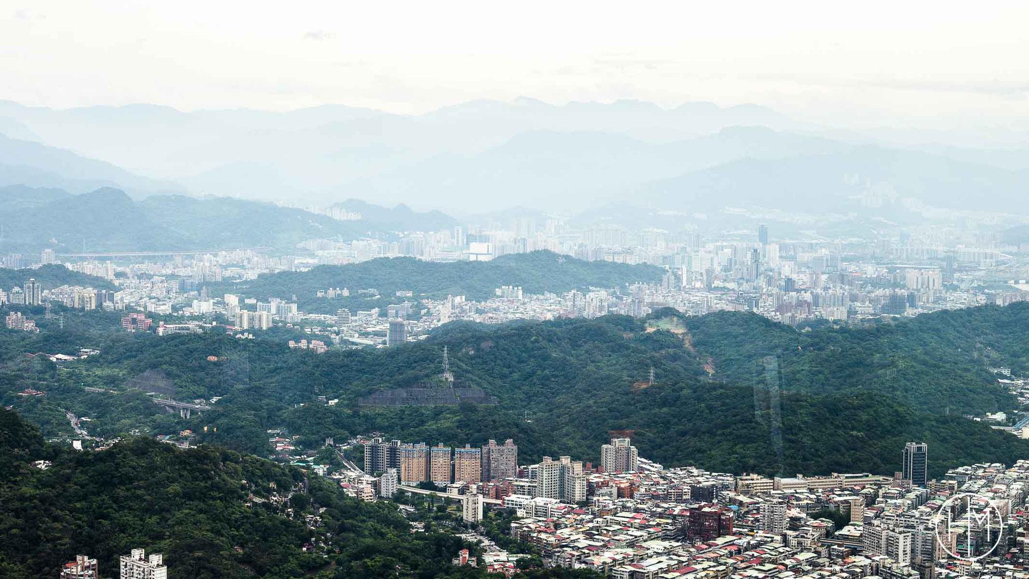 Vu de la Tour 101 de Taipeih