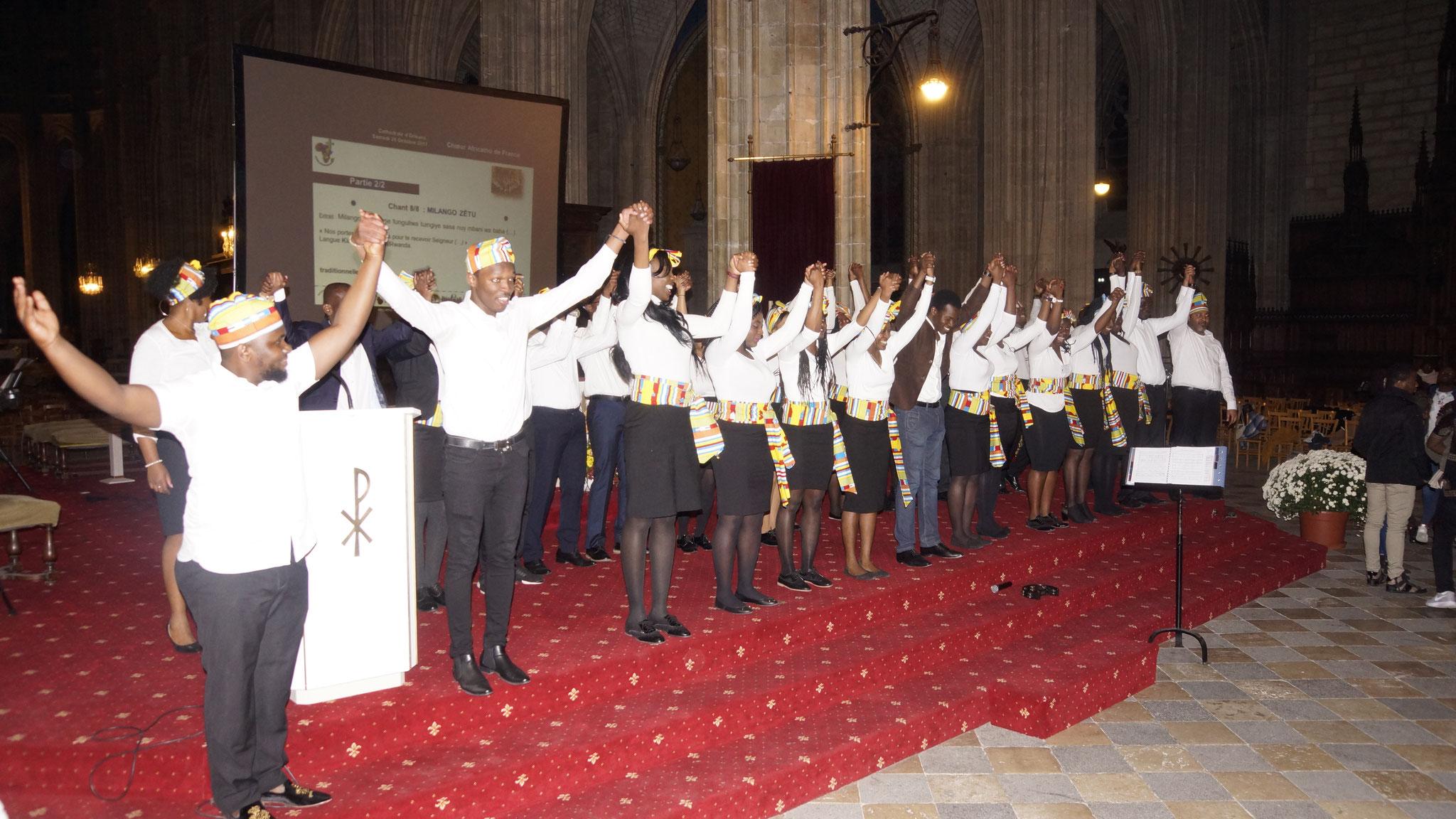 Concert Choeur Africatho, Cathédrale Ste Croix d'Orléans.