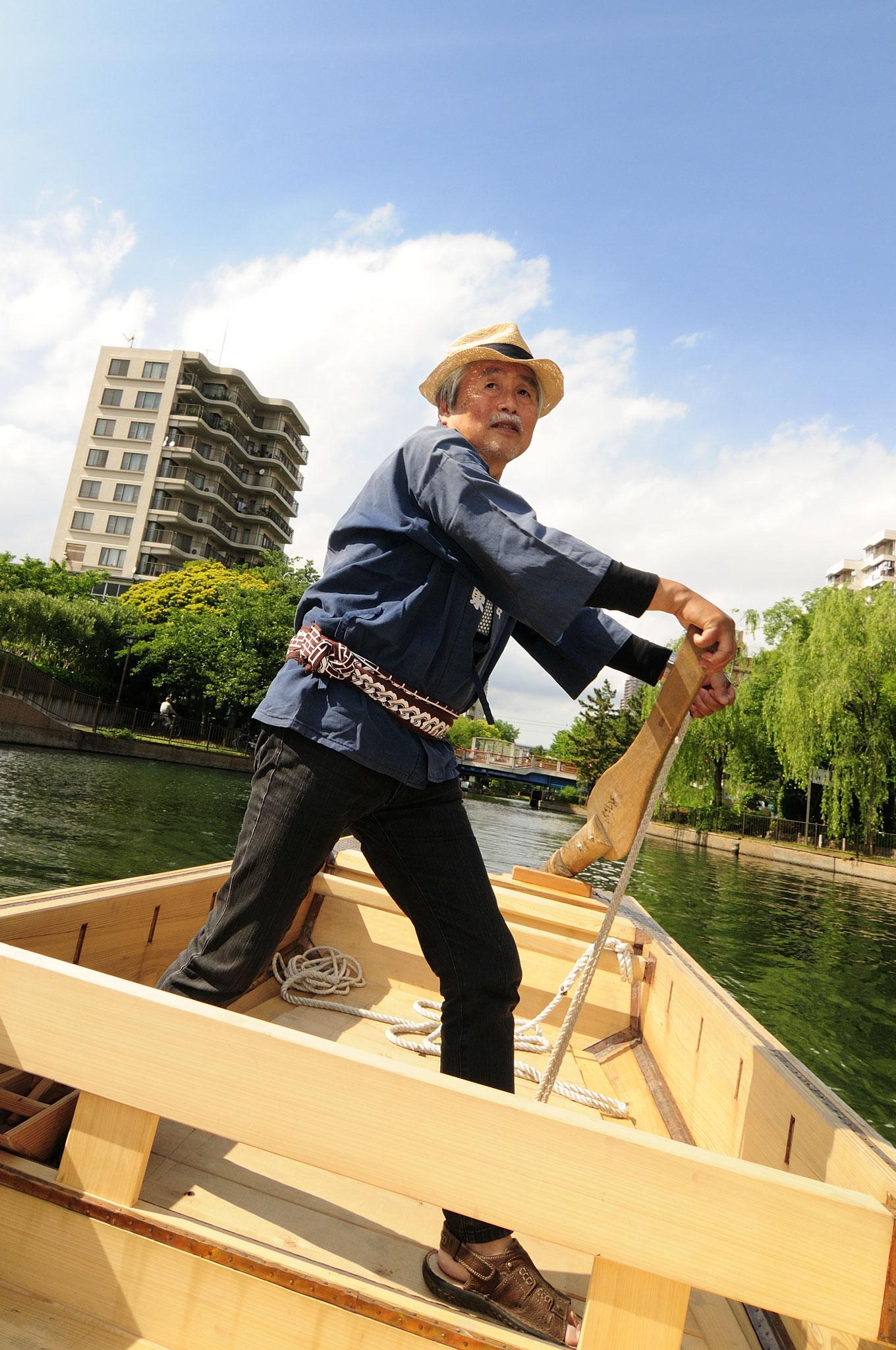 横十間川公園では和船にも乗れる。江東区と和船友の会が運営している