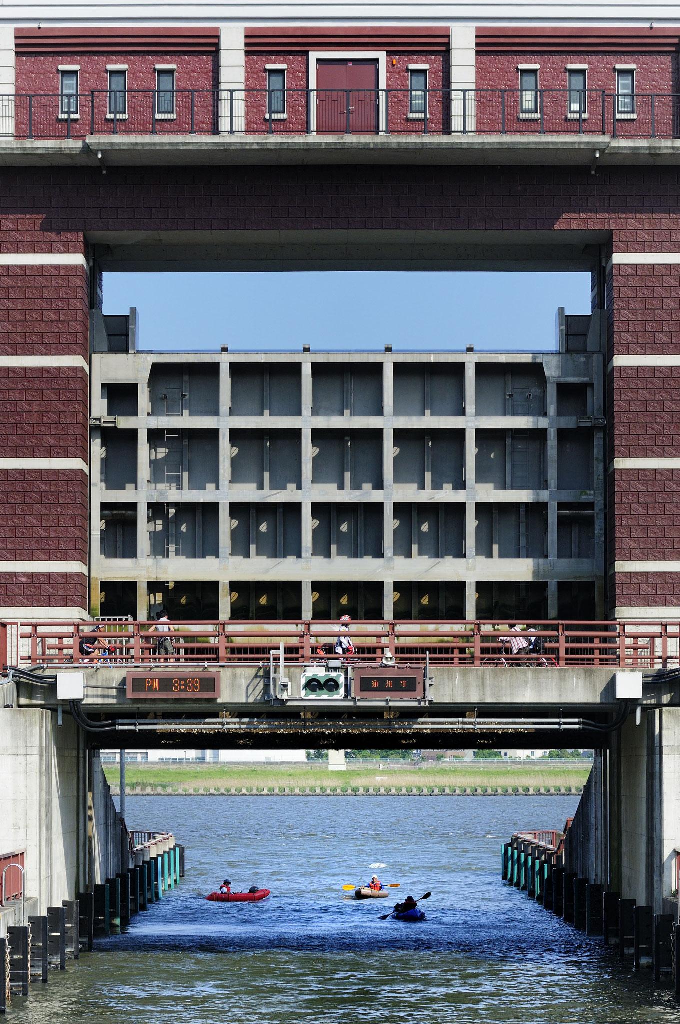荒川ロックゲートの完成で隅田川と荒川が旧中川・小名木川を通じてつながる