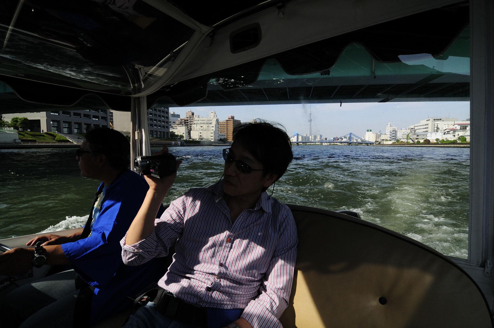 川めぐりの旅もいろいろ。静かな電気ボートで大川(隅田川)を行く
