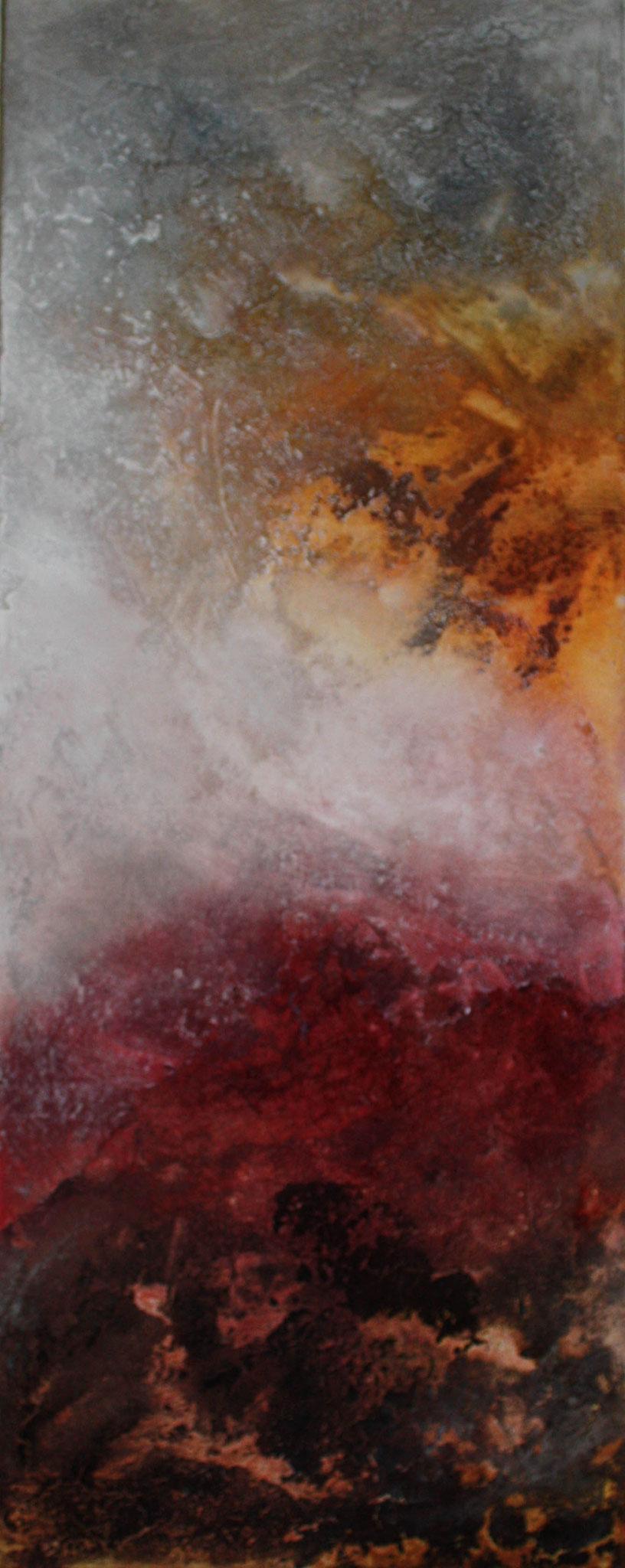 """2017-01 / (2 von 3 Bidlern)  """" Vulkanische Erde I"""" / 40 x 100 cm"""