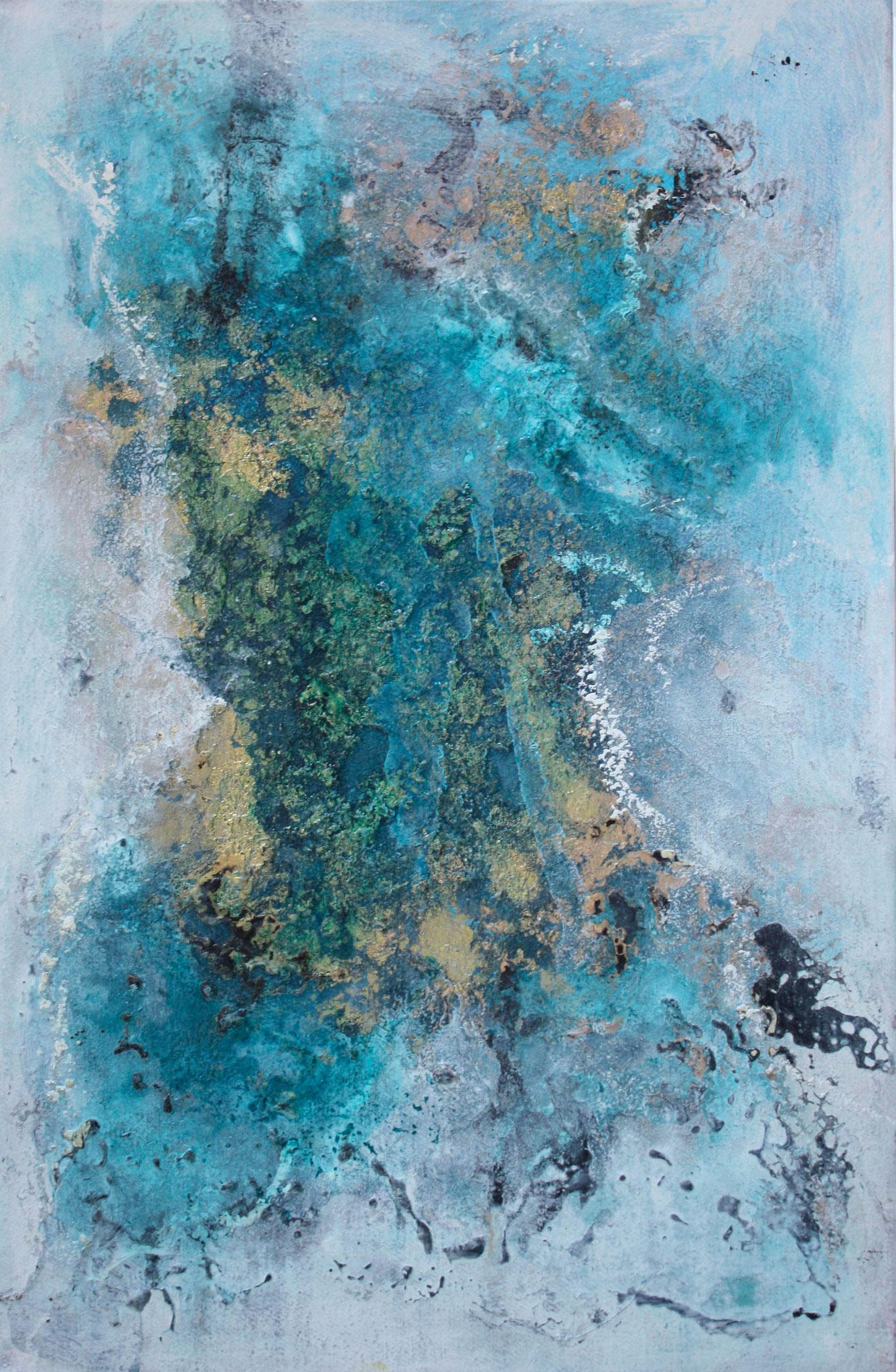 """2016-08 / """"Schellack IV"""" / 27 x 41 cm"""