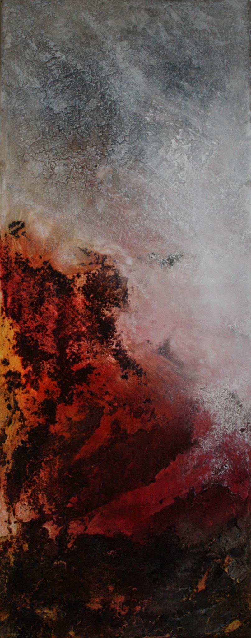 """2017-01 / (1 von 3 Bidlern)  """" Vulkanische Erde I"""" / 40 x 100 cm"""
