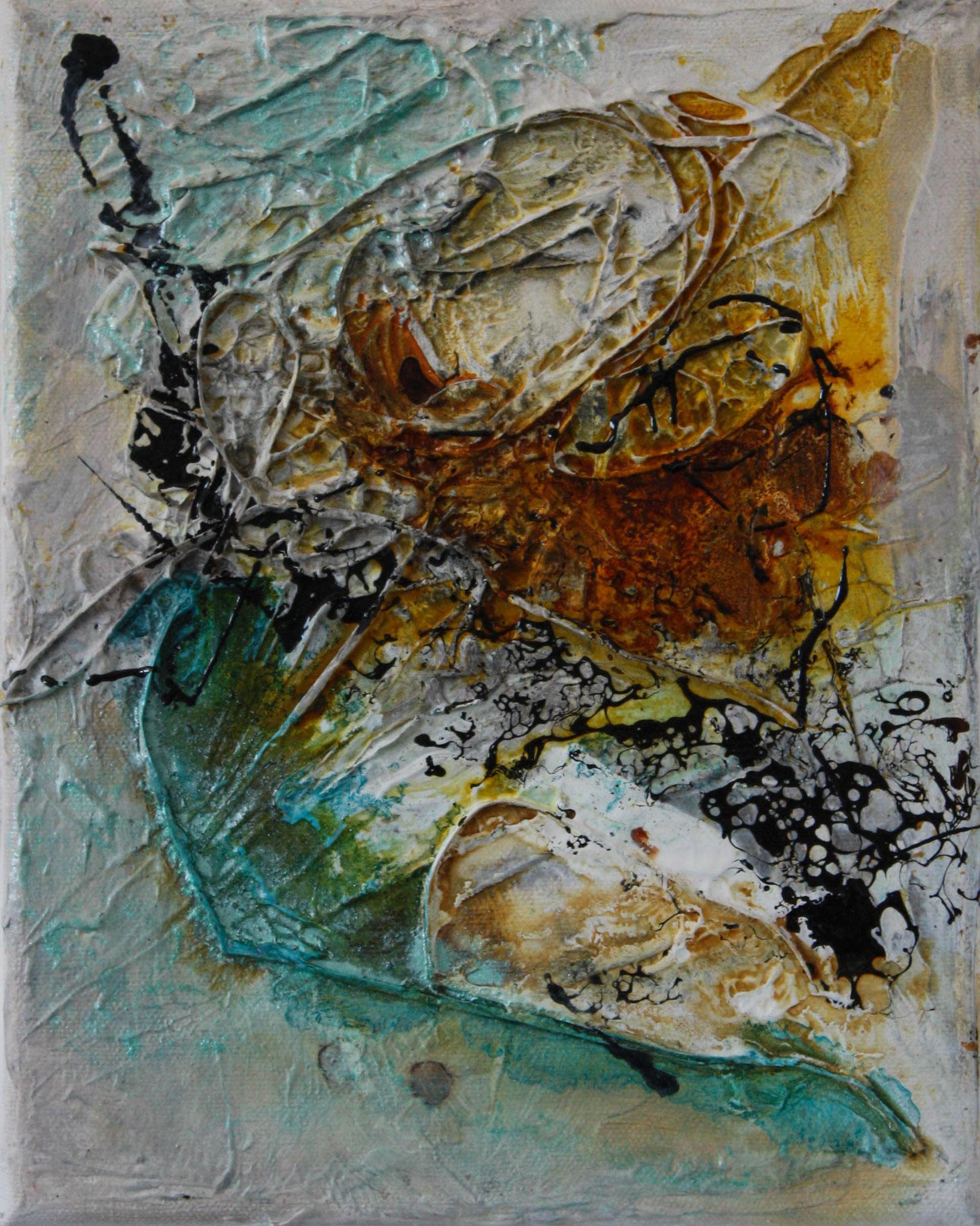 """2016-07 / (2 von 3 Bilder) """"Schellack I"""" / 25 x 30 cm"""