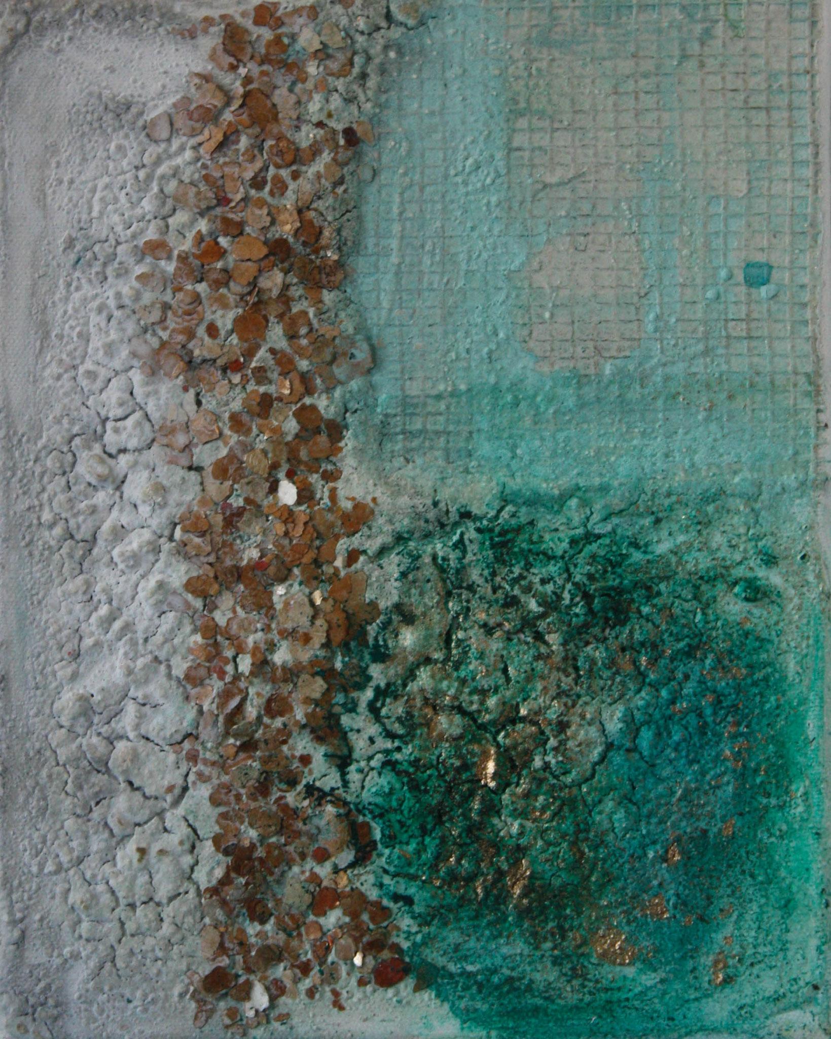 """2016-11 / (1 von 2 Bilder) """"Goldrausch"""" / 20 x 25 cm"""