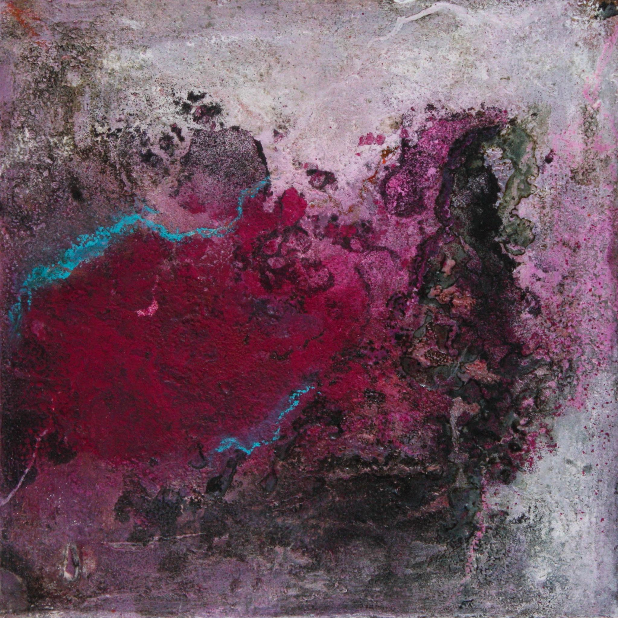 """2016-03 / """"Purpur I"""" / 20 x 20 cm"""