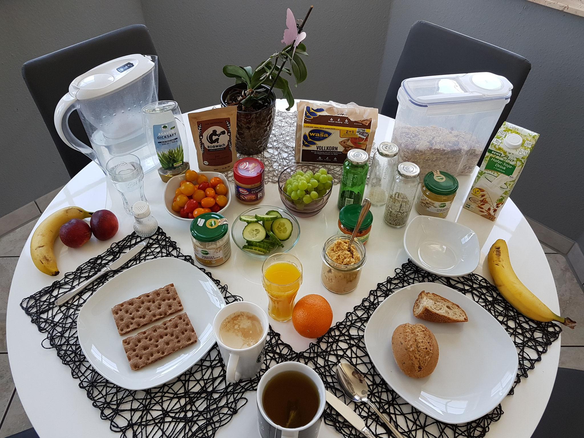 Vegan frühstücken ist doch kinderleicht...