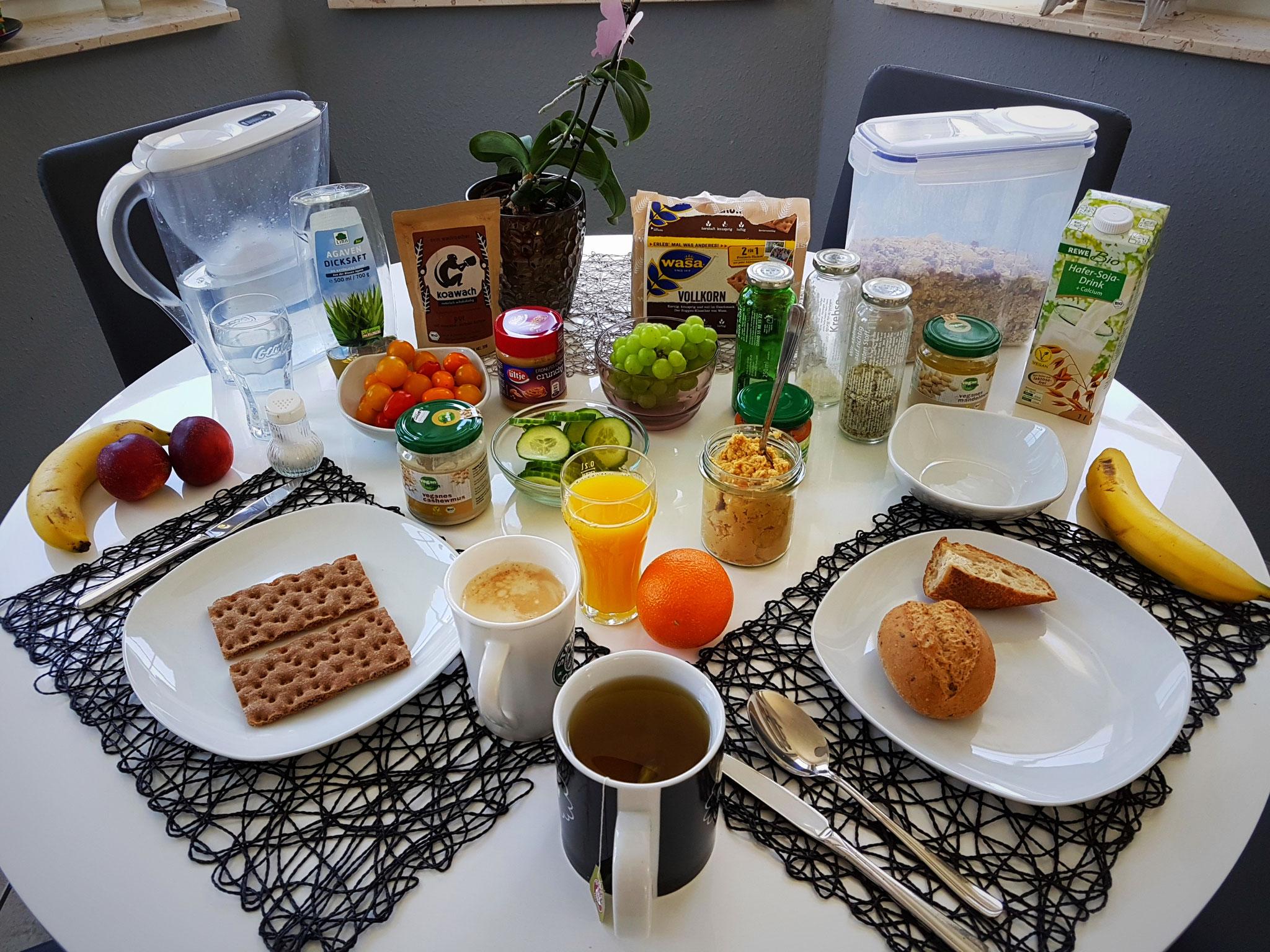 Auch beim Frühstück muss man nicht verhungern...