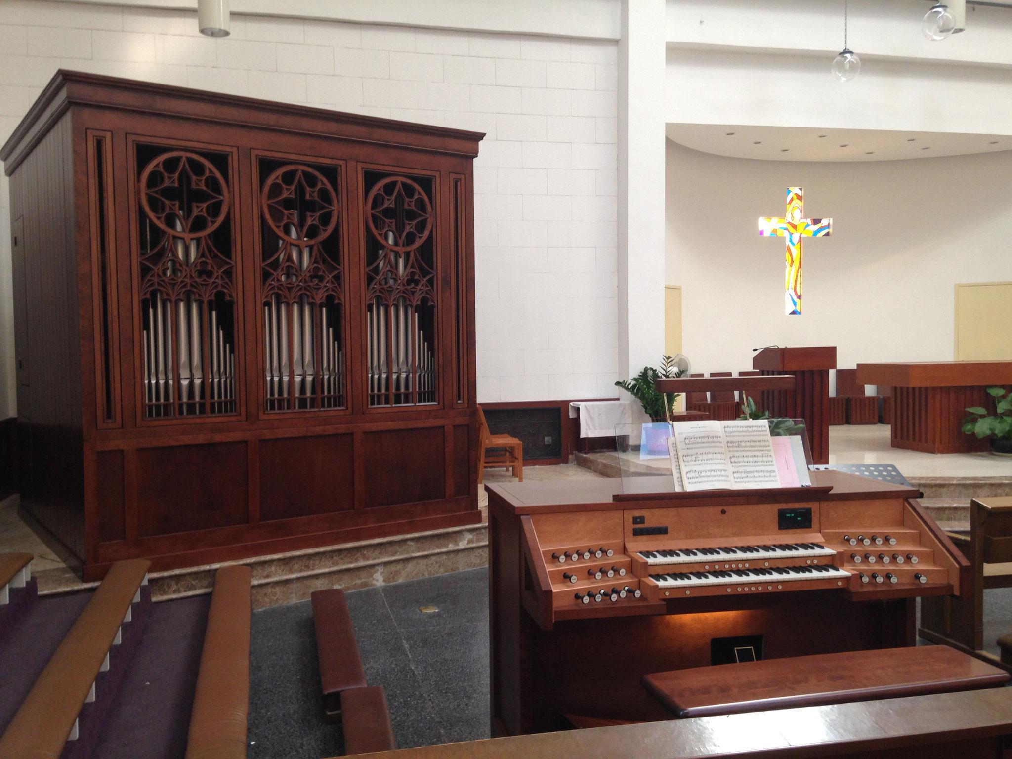 Orgue Inspiration installé au Séminaire Saint-Michael à Beijing