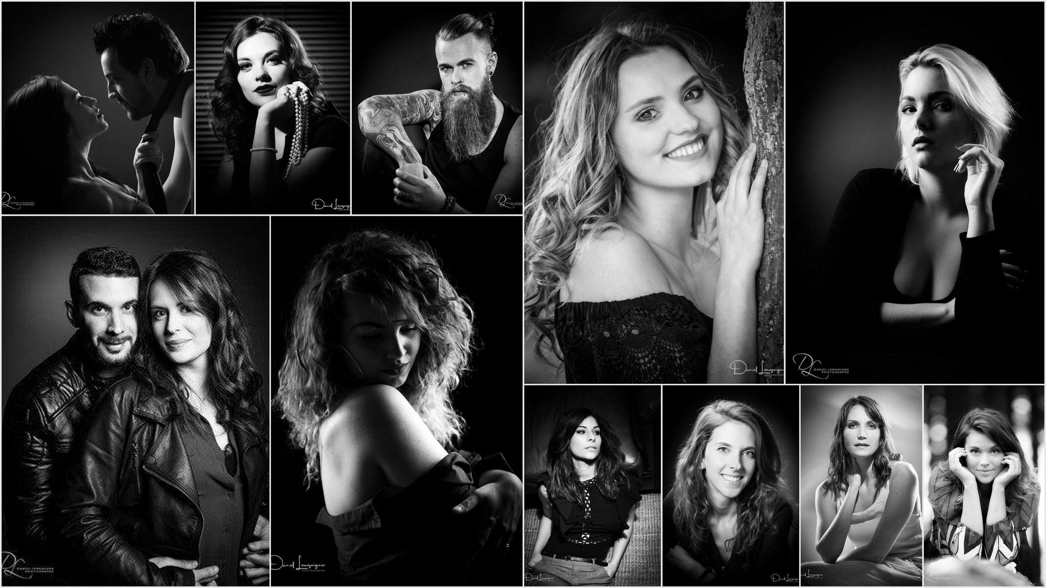 Shooting photo; book photo femme; photo en noir et blanc