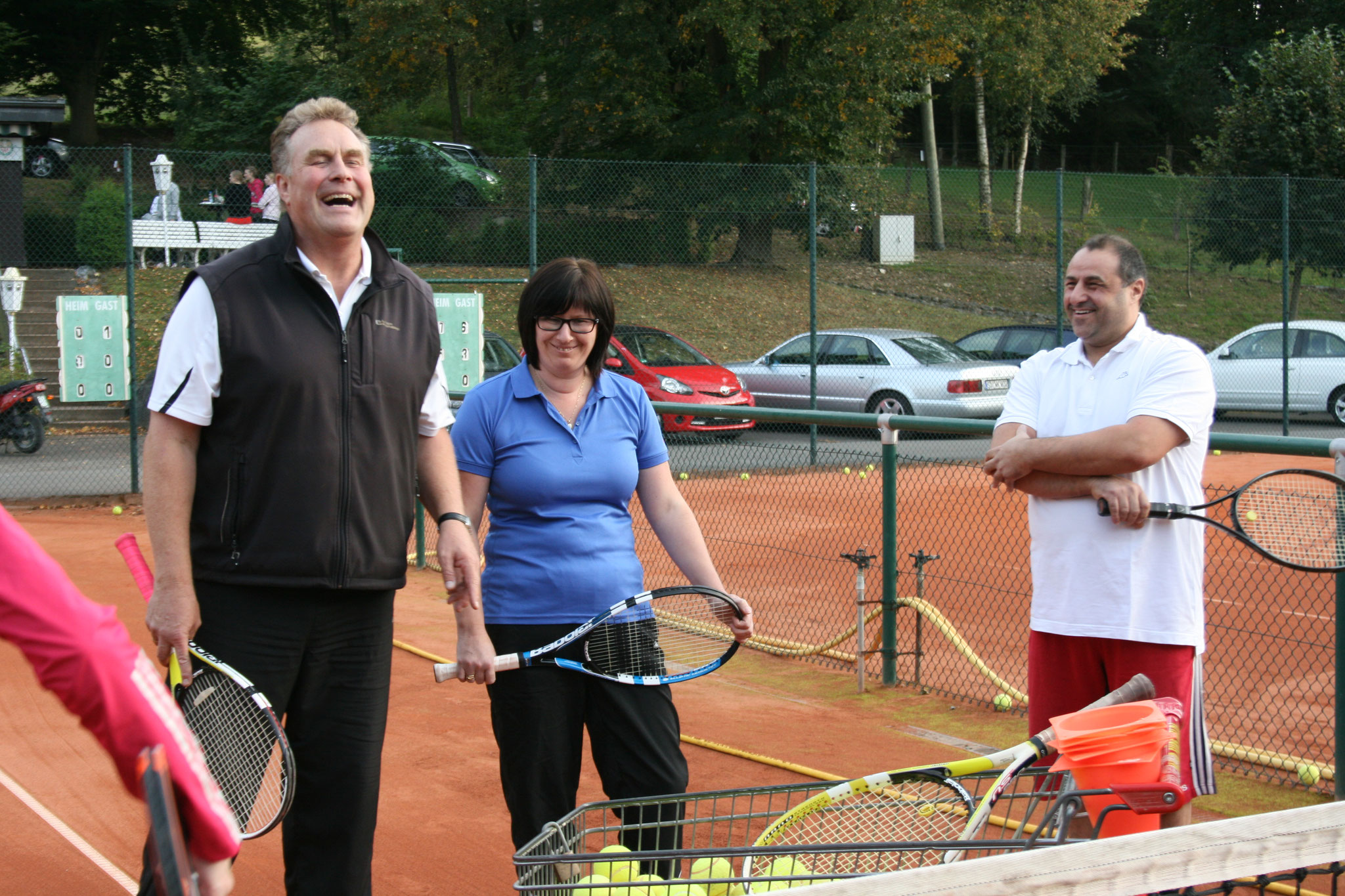 ....die, wie man sieht, immer mit viel Spaß von Wolfgang Haferkemper betreut und trainiert wird