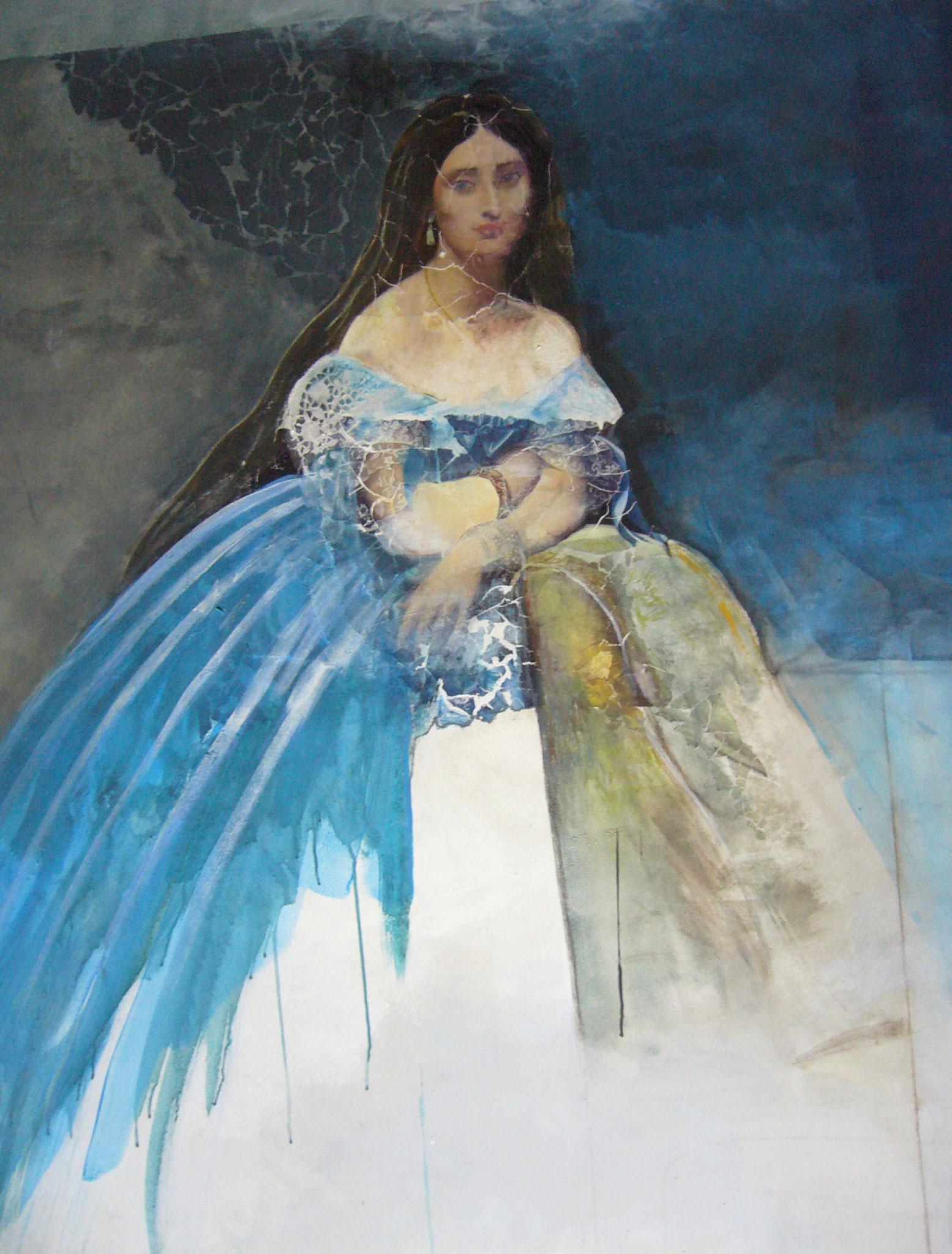Josefine, Mischtechnik auf Leinwand, 120 x 150cm