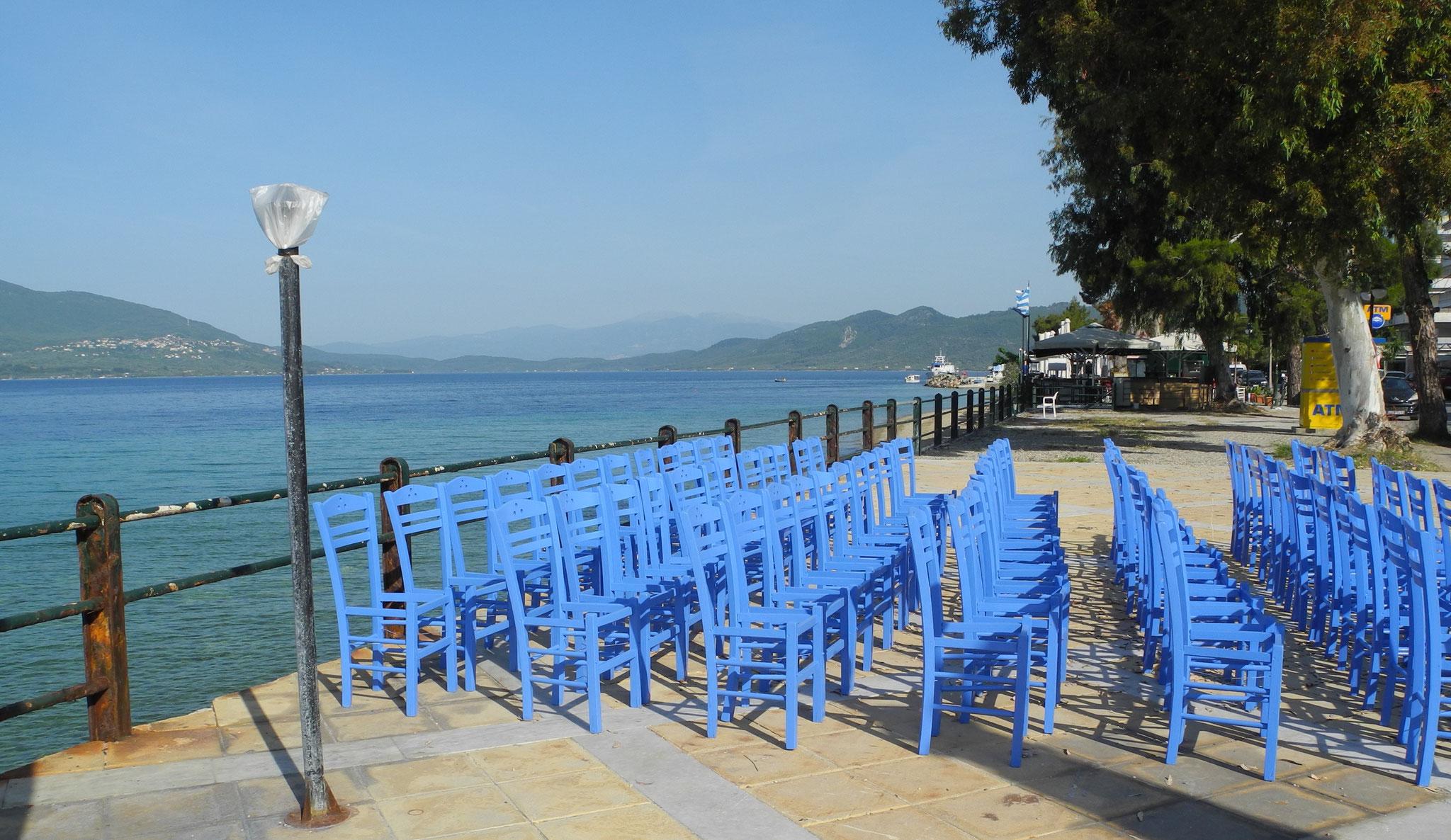 "Kafeneion ""Kyma"" Loutra Edipsos, Evia, GR"
