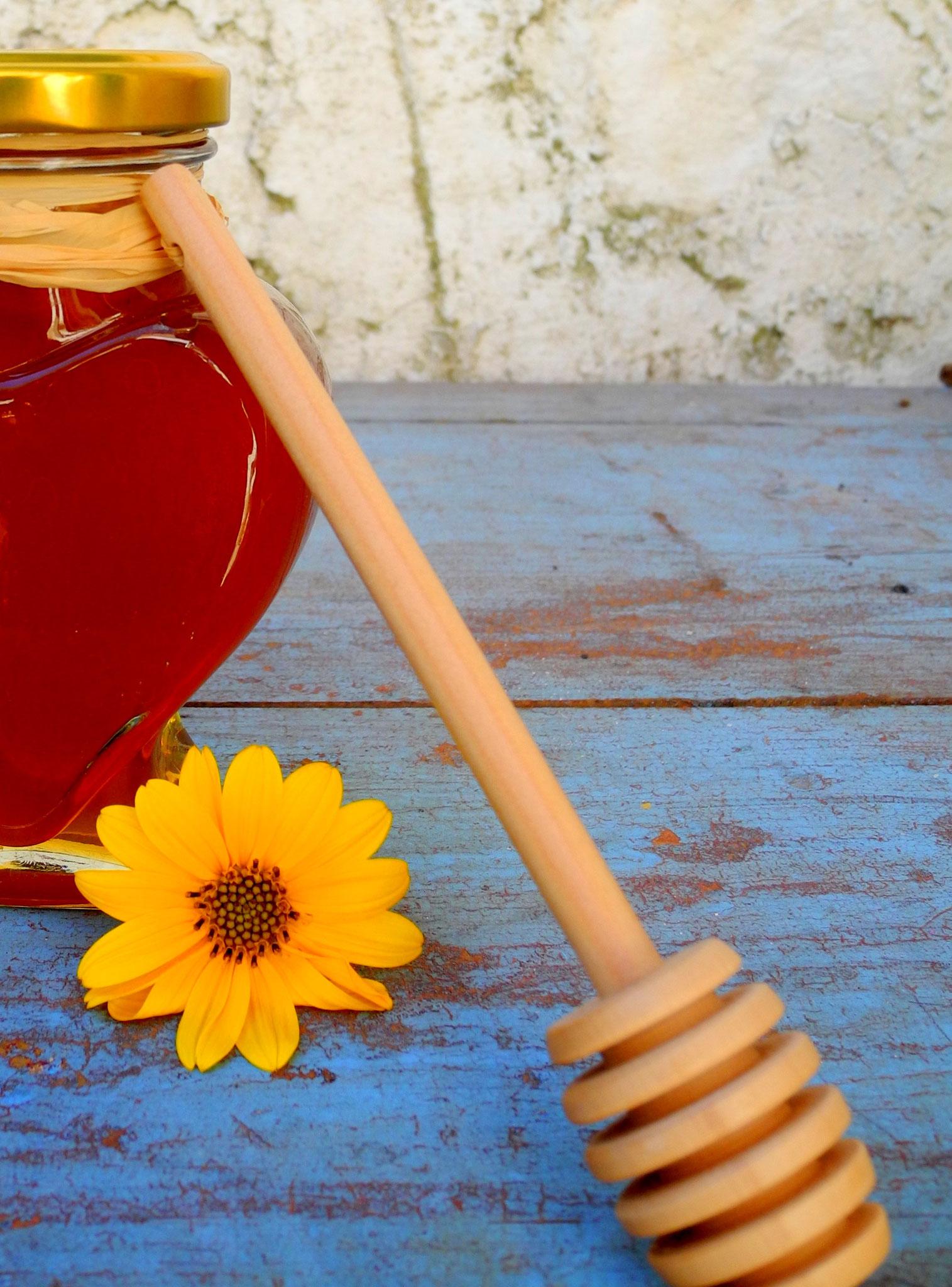 Honig mit Honiglöffel Geschenkidee