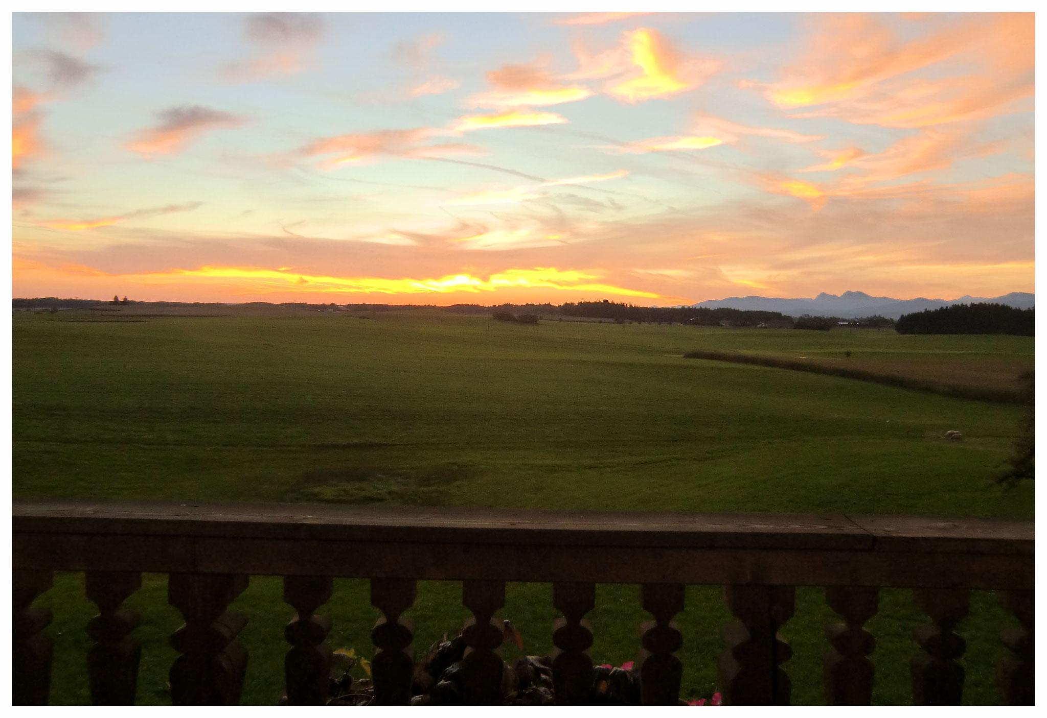 Sonnenaufgang - Balkonausblick Osten