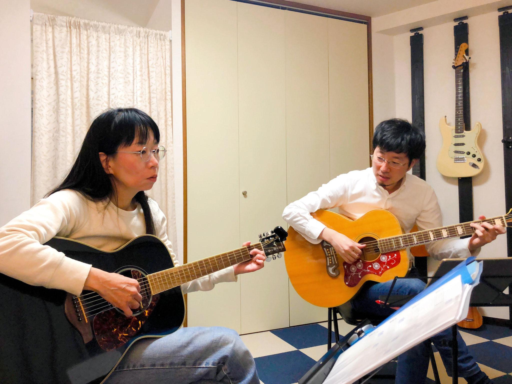 アコースティックギターでオリジナル曲を作曲しました