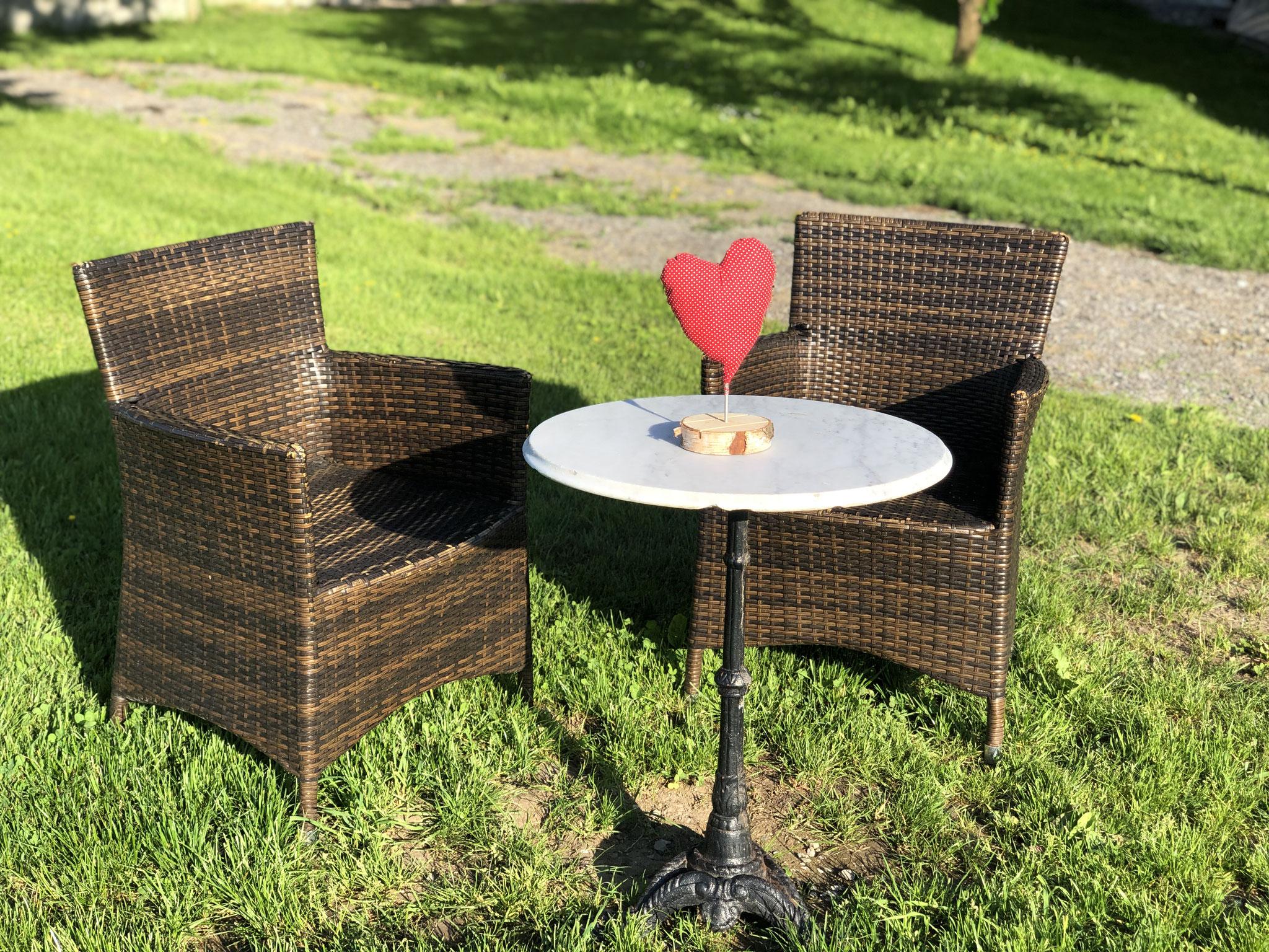 Gartenkaffee / Sitzgelegenheit