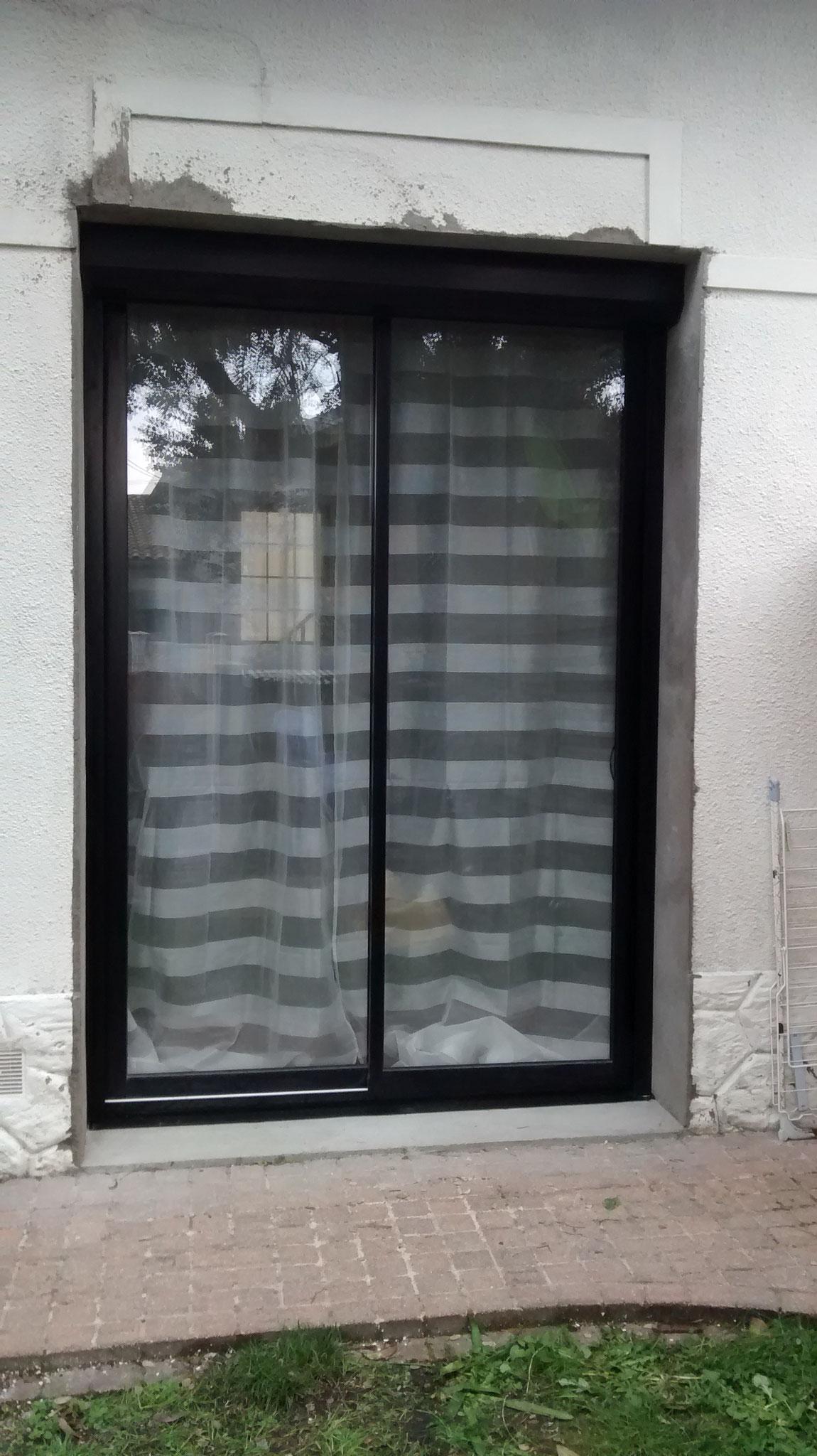 Implantation d'une baie vitrée