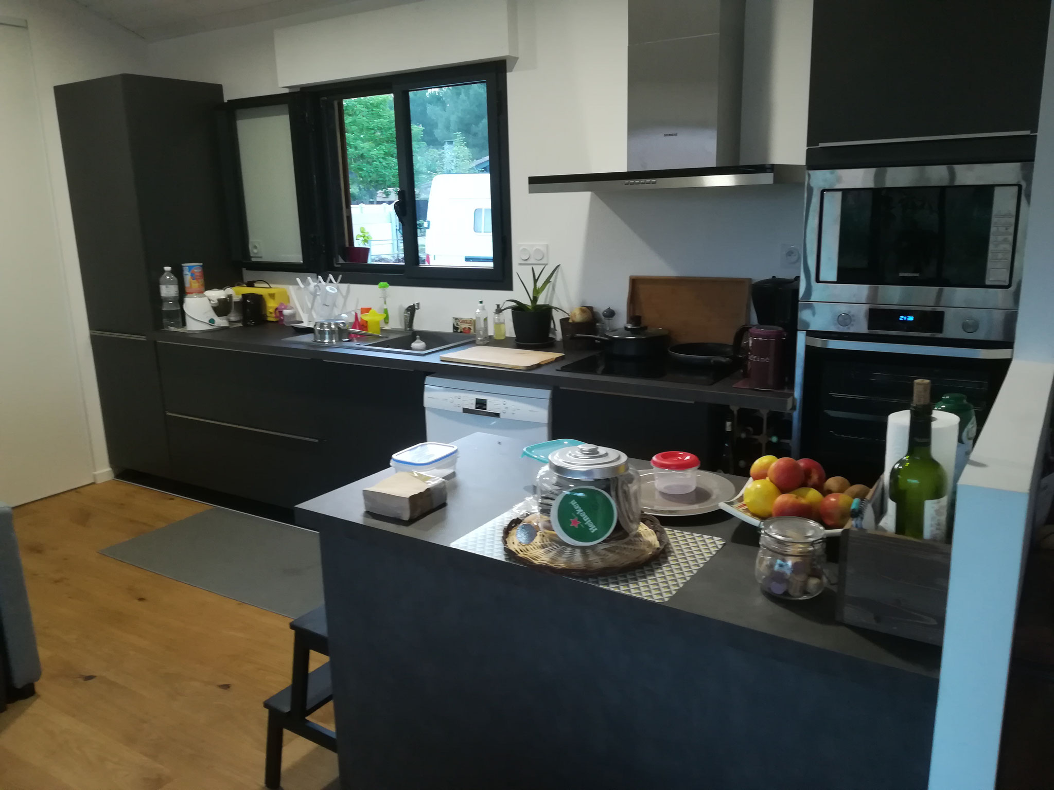 Plans de travail cuisine en place