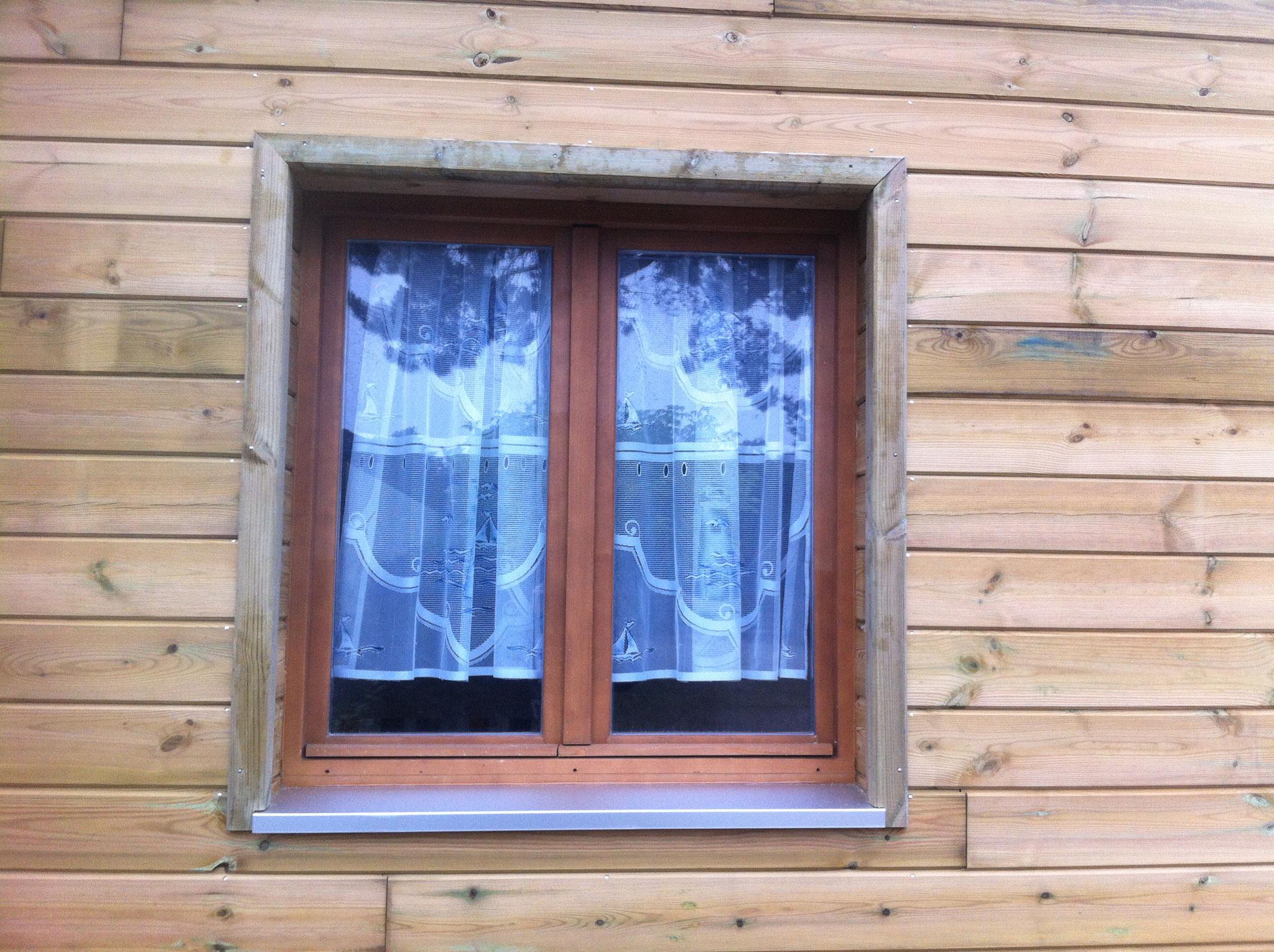 Détail finition fenêtre