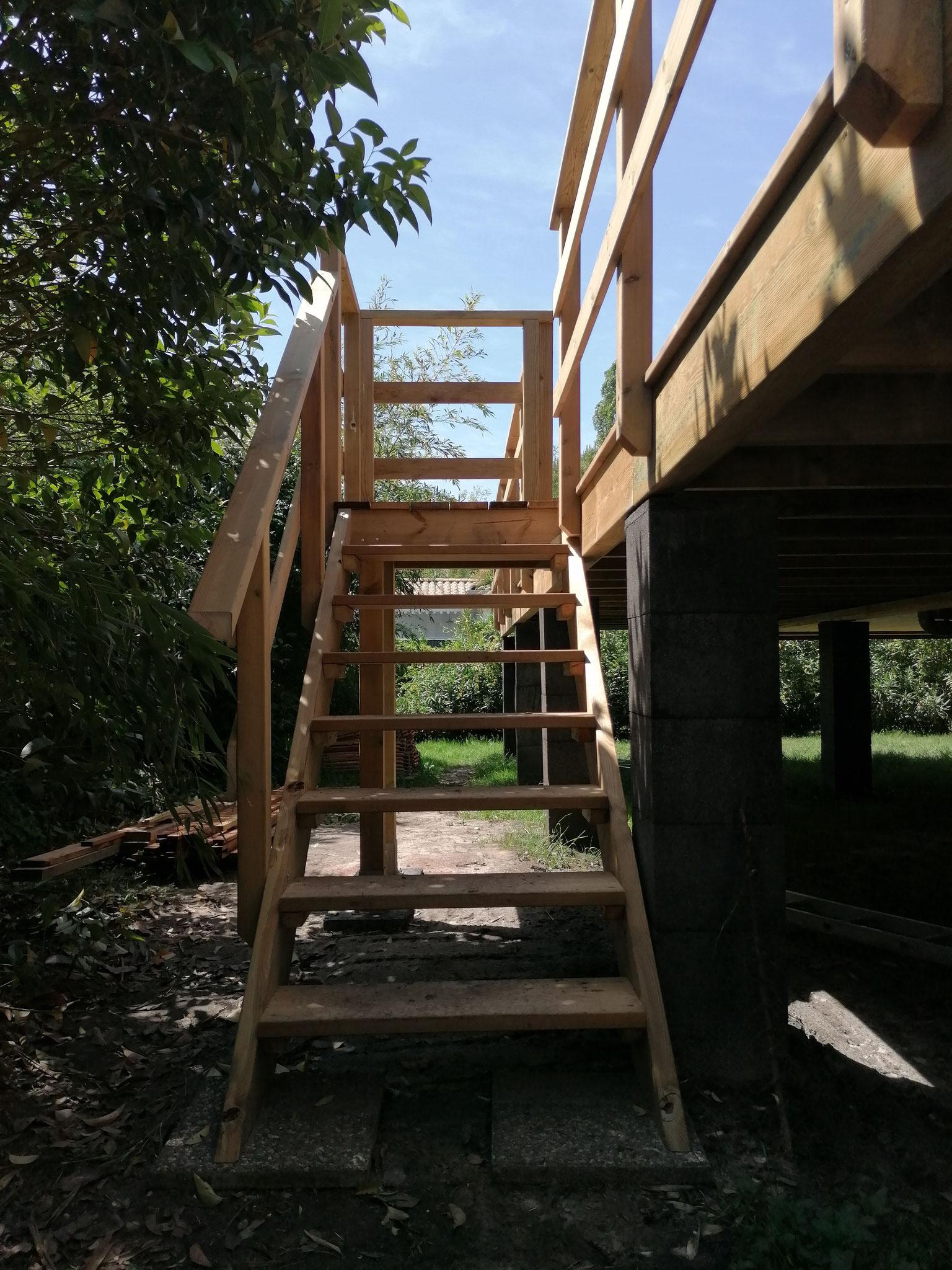 Fabrication de l'escalier