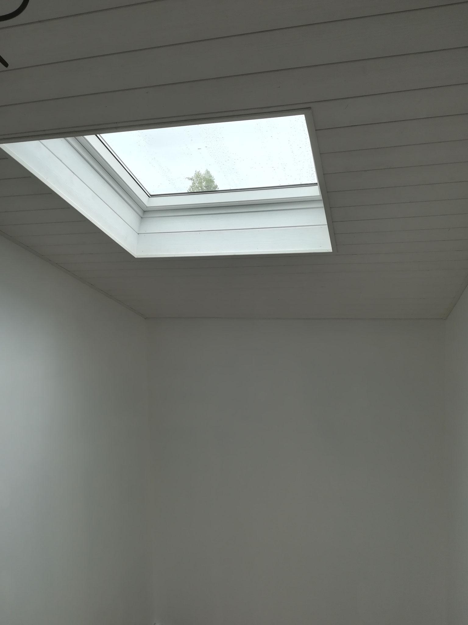 Plafond et velux en place