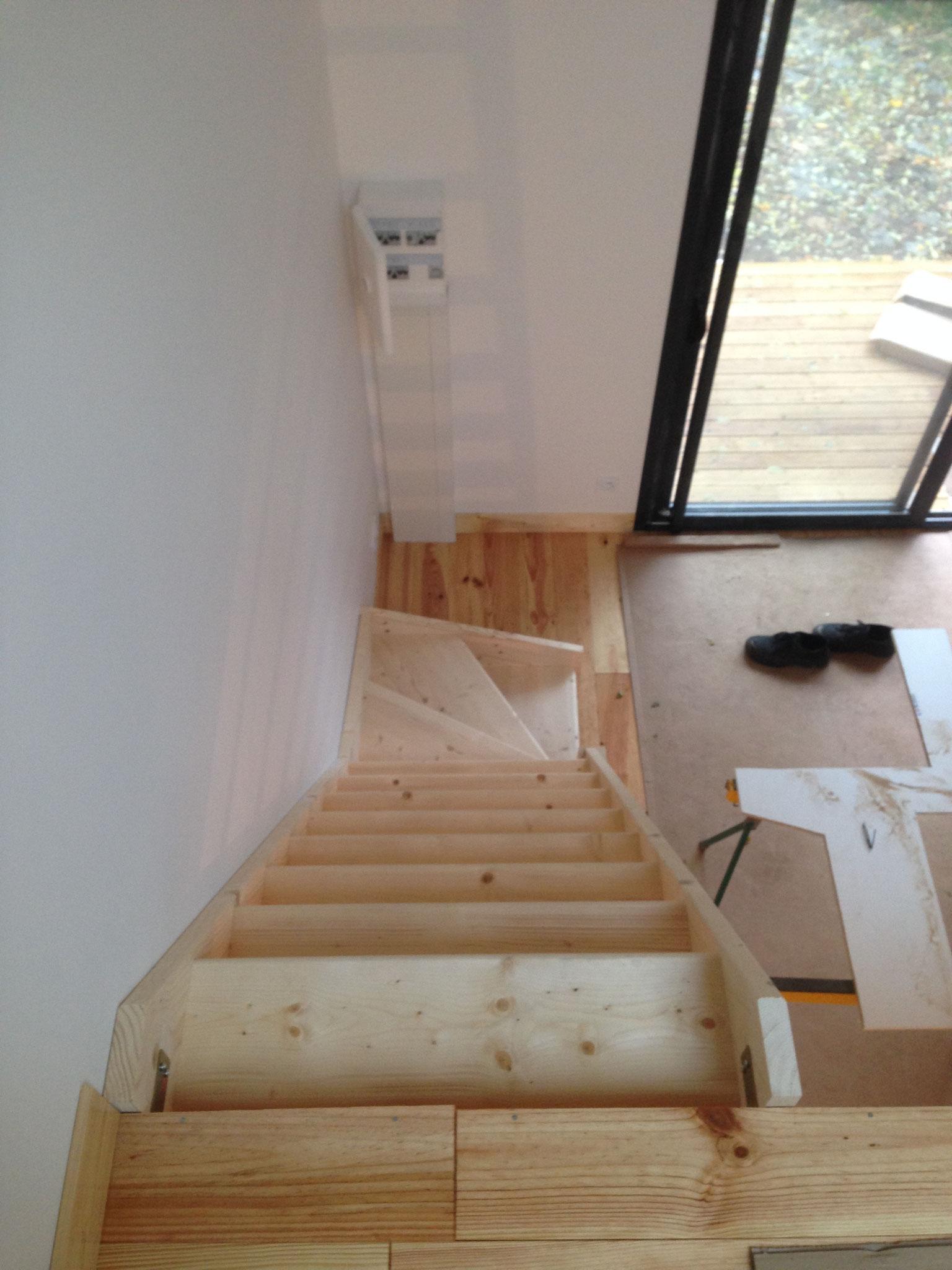Escalier vue de dessus