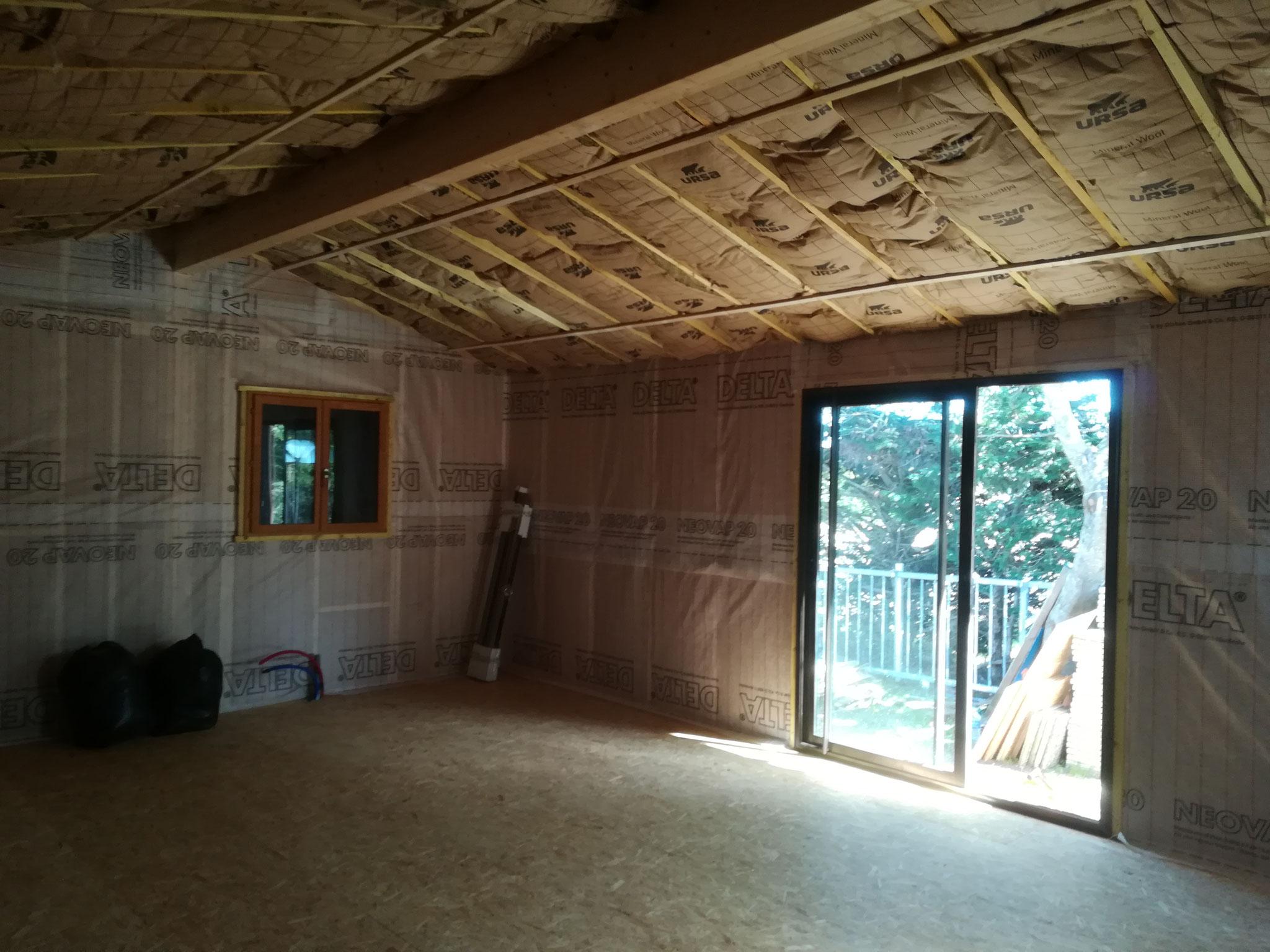 Isolation murs et plafond