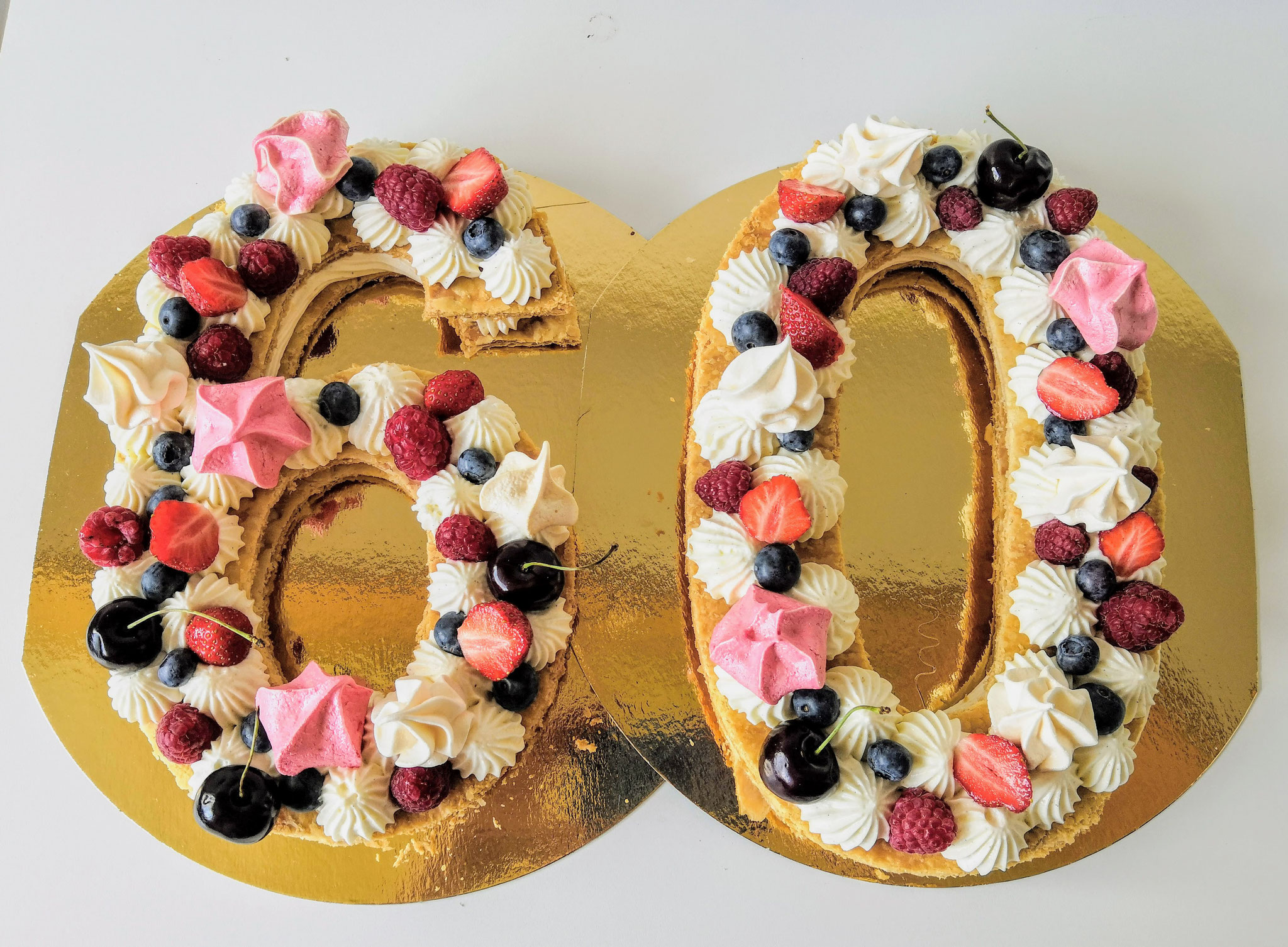 Number cake vanille