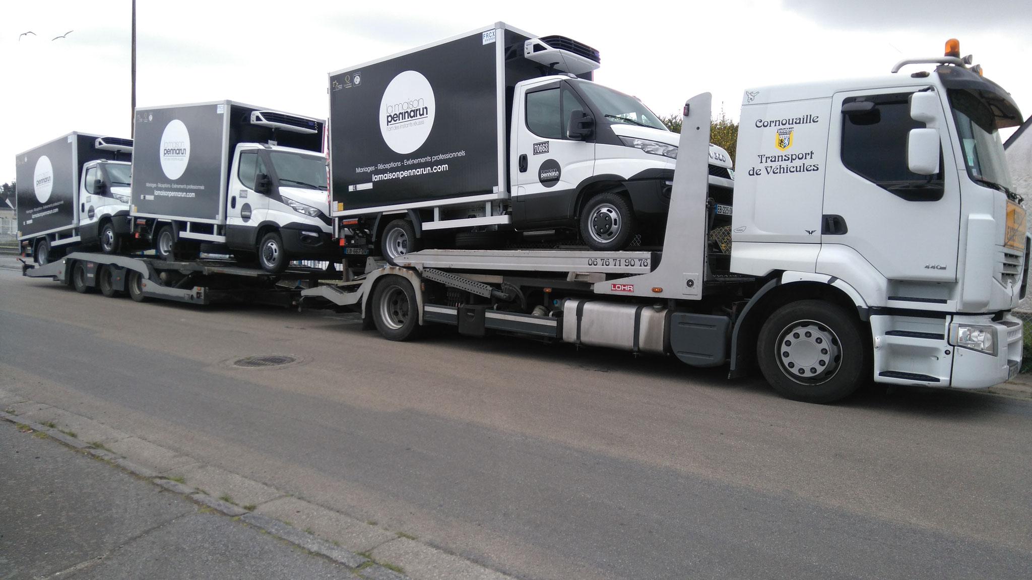 Transport de véhicules frigorifiques