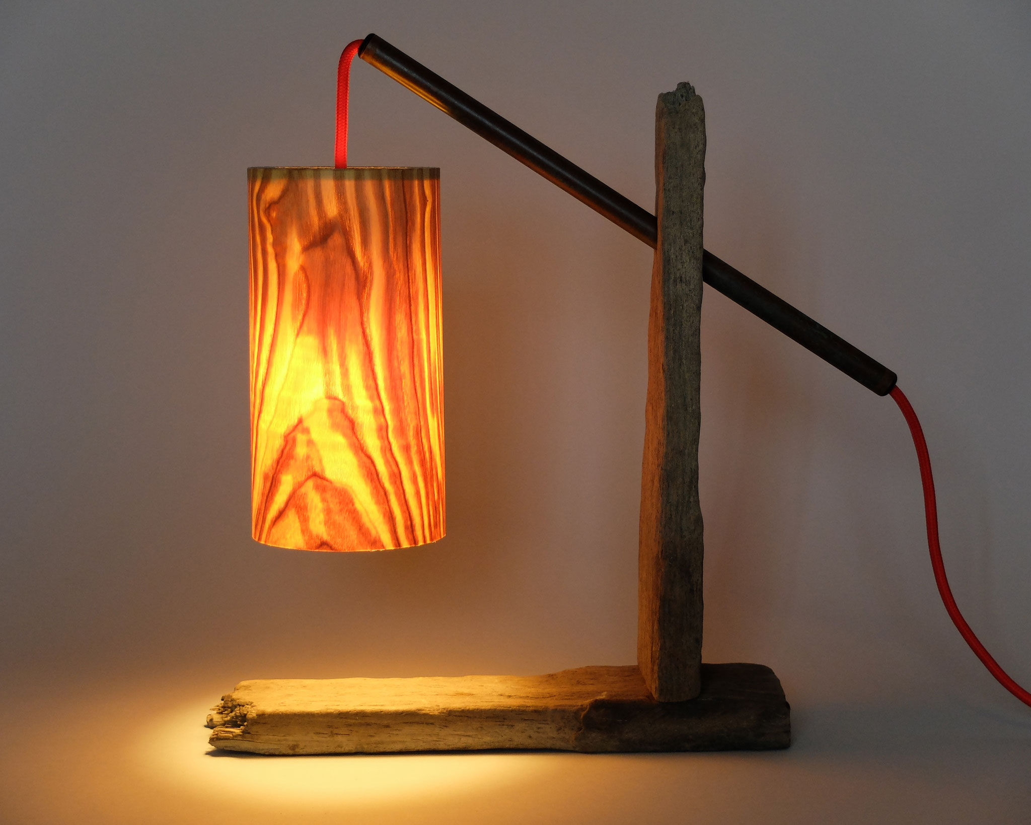 Upcycling Tischlampe Lucius