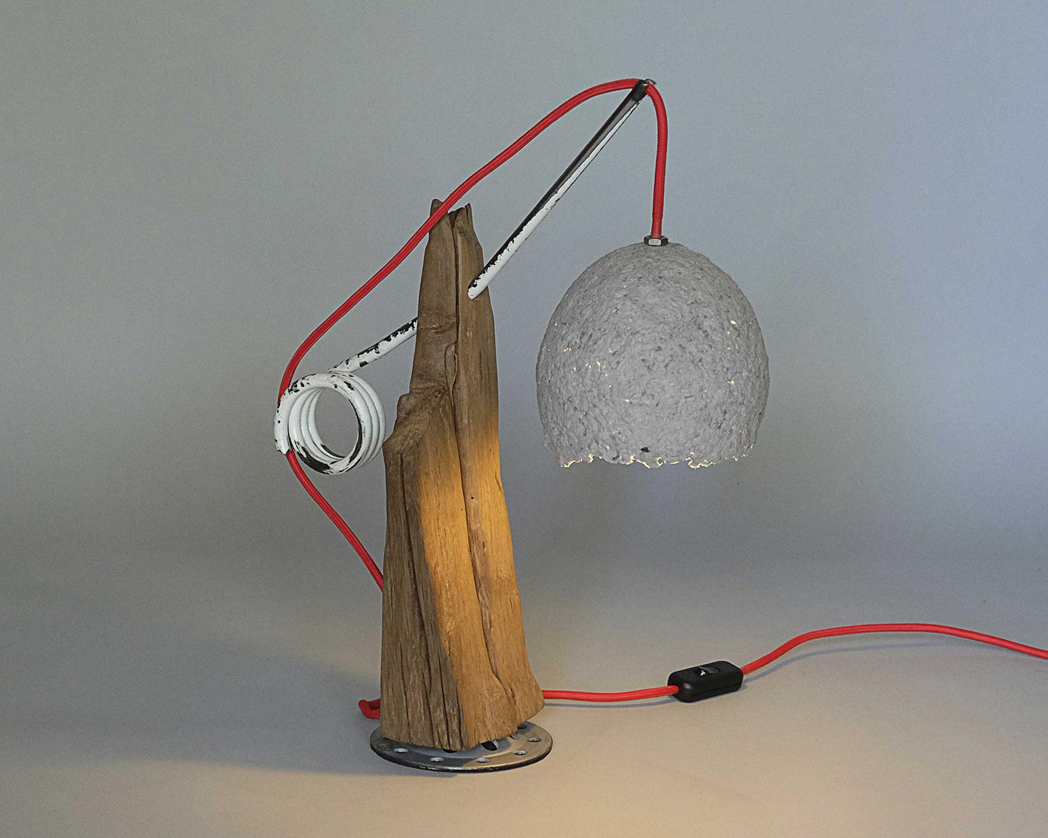Upcycling Tischlampe Decem