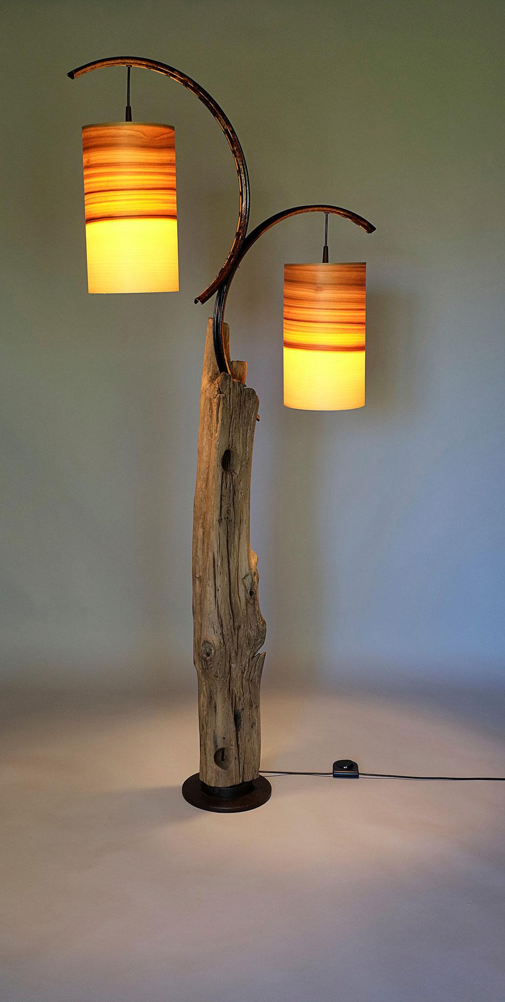 Upcycling Stehlampe Luna