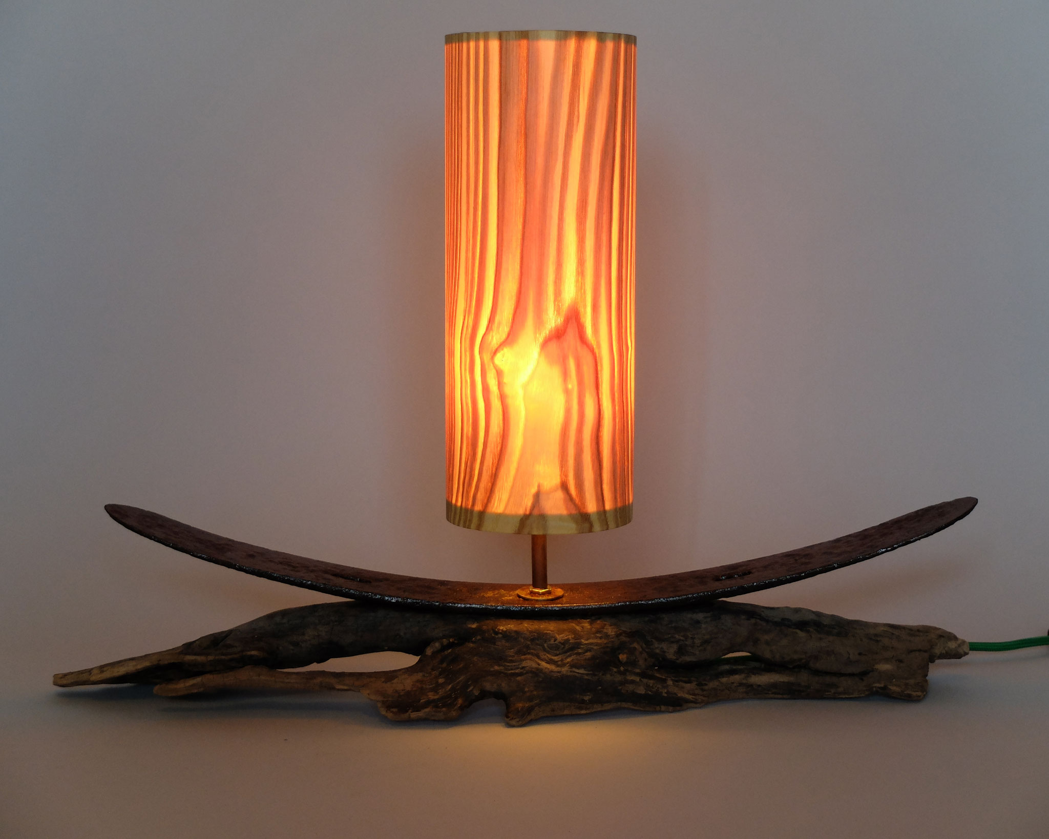 Upcycling Tischlampe Navis