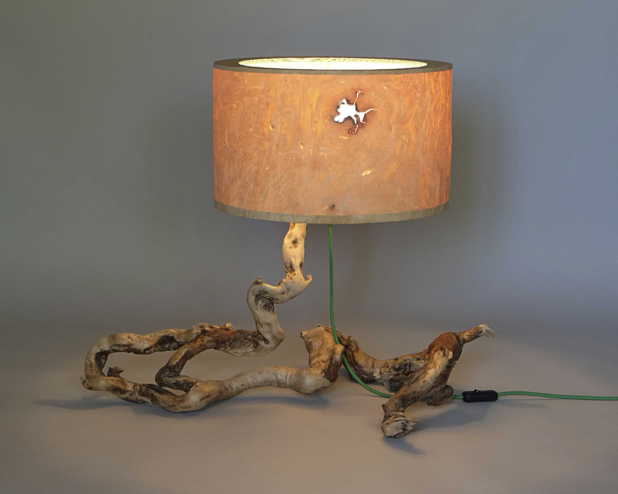 Upcycling Tischlampe Catulus