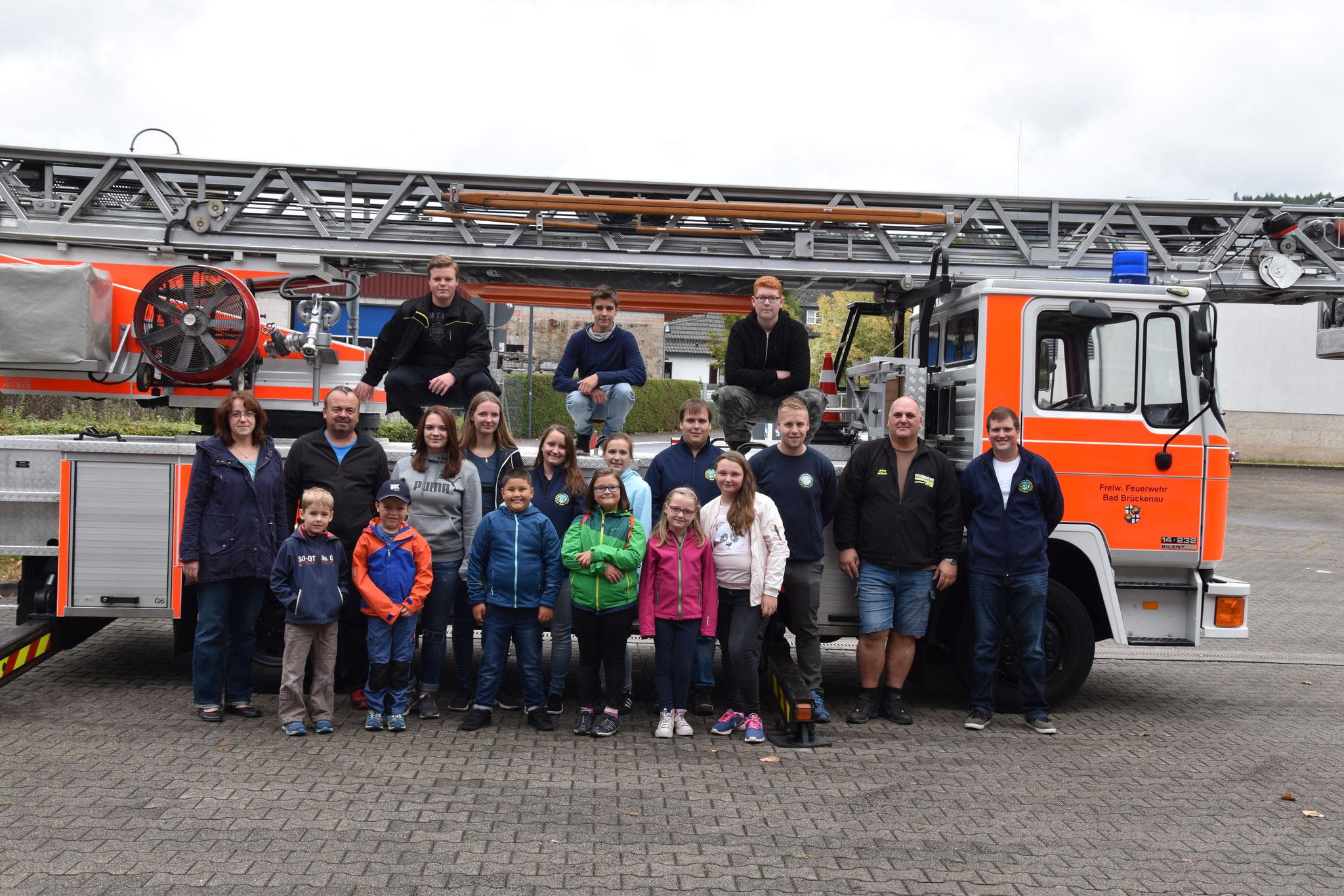 Besuch der Drehleiter bei der Feuerwehr Bad Brückenau