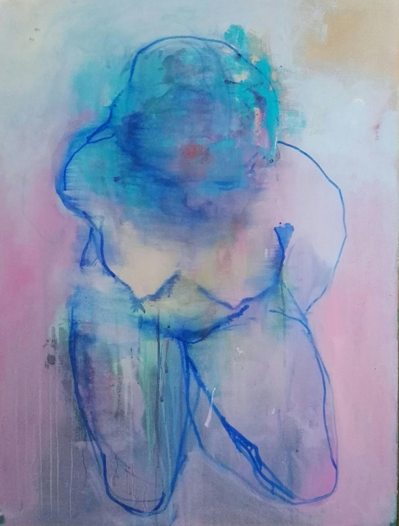 soft blue nude 60x80cm
