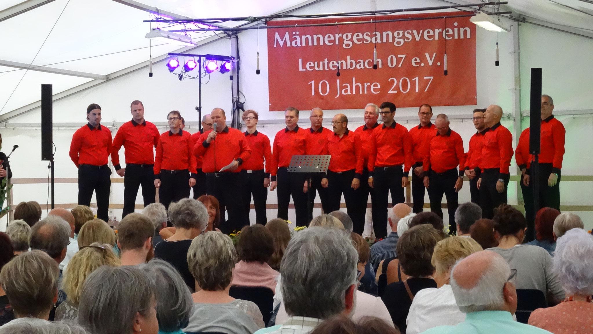 Jubiläumsfest 10 Jahre Männergesangsverein Leutenbach 07