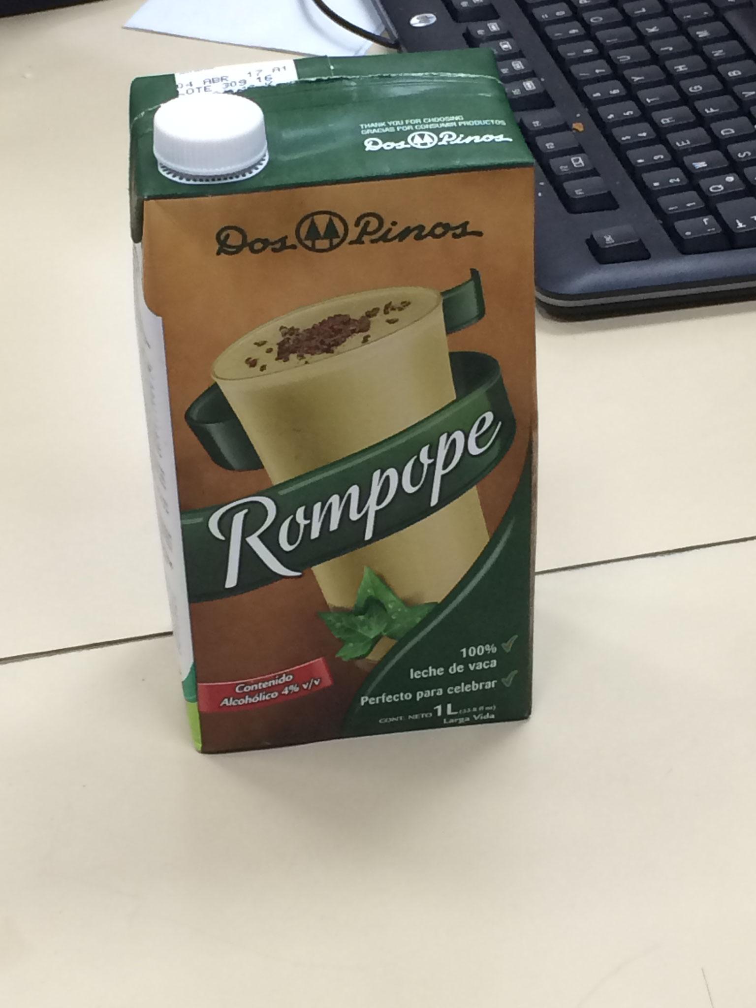 Typisches Getränk: Rompope
