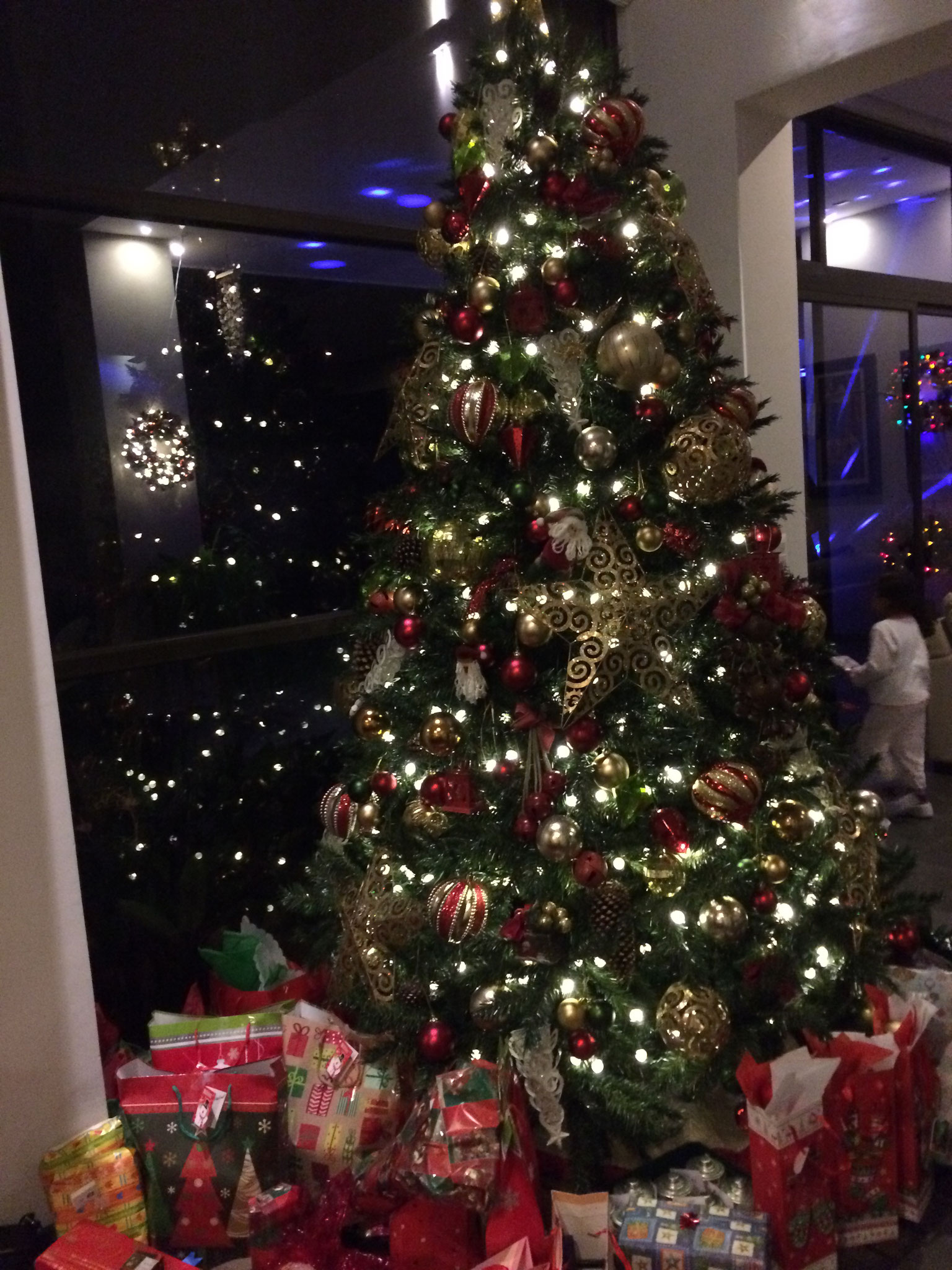 Der Weihnachtsbaum an Heiligabend