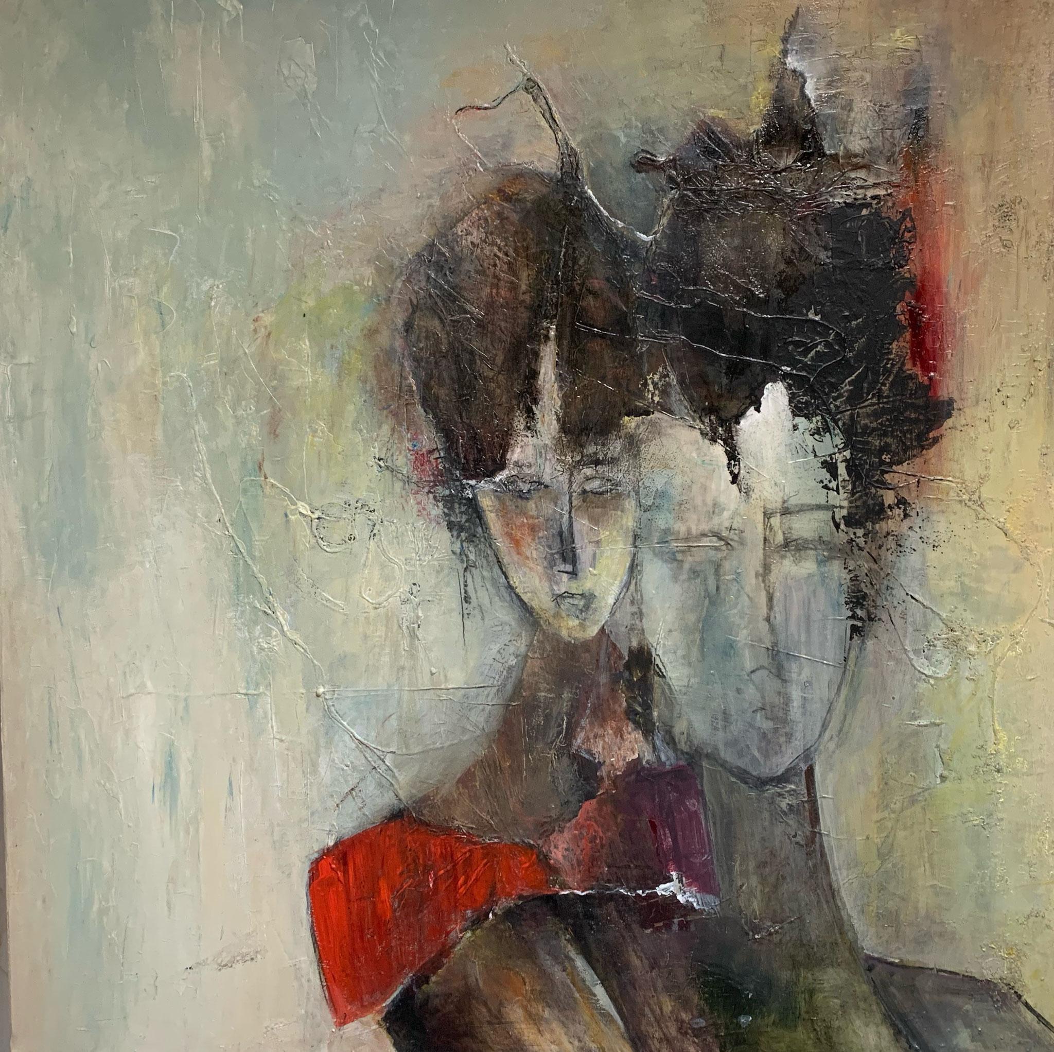 """""""Joe et Josepha"""" Acrylique sur Toile 100 x 100 cm"""
