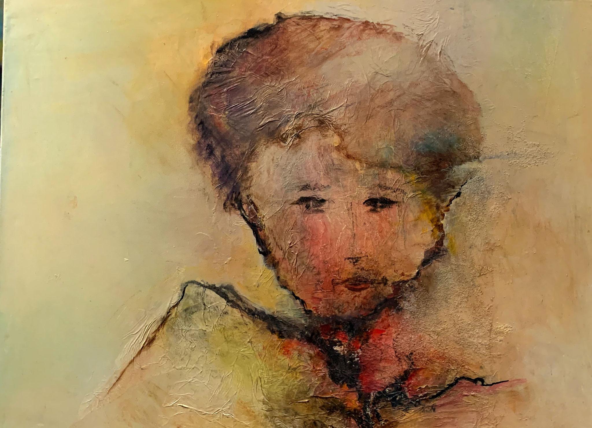 """""""Le Petit Prince"""" Acrylique sur Toile 60 x 80 cm"""