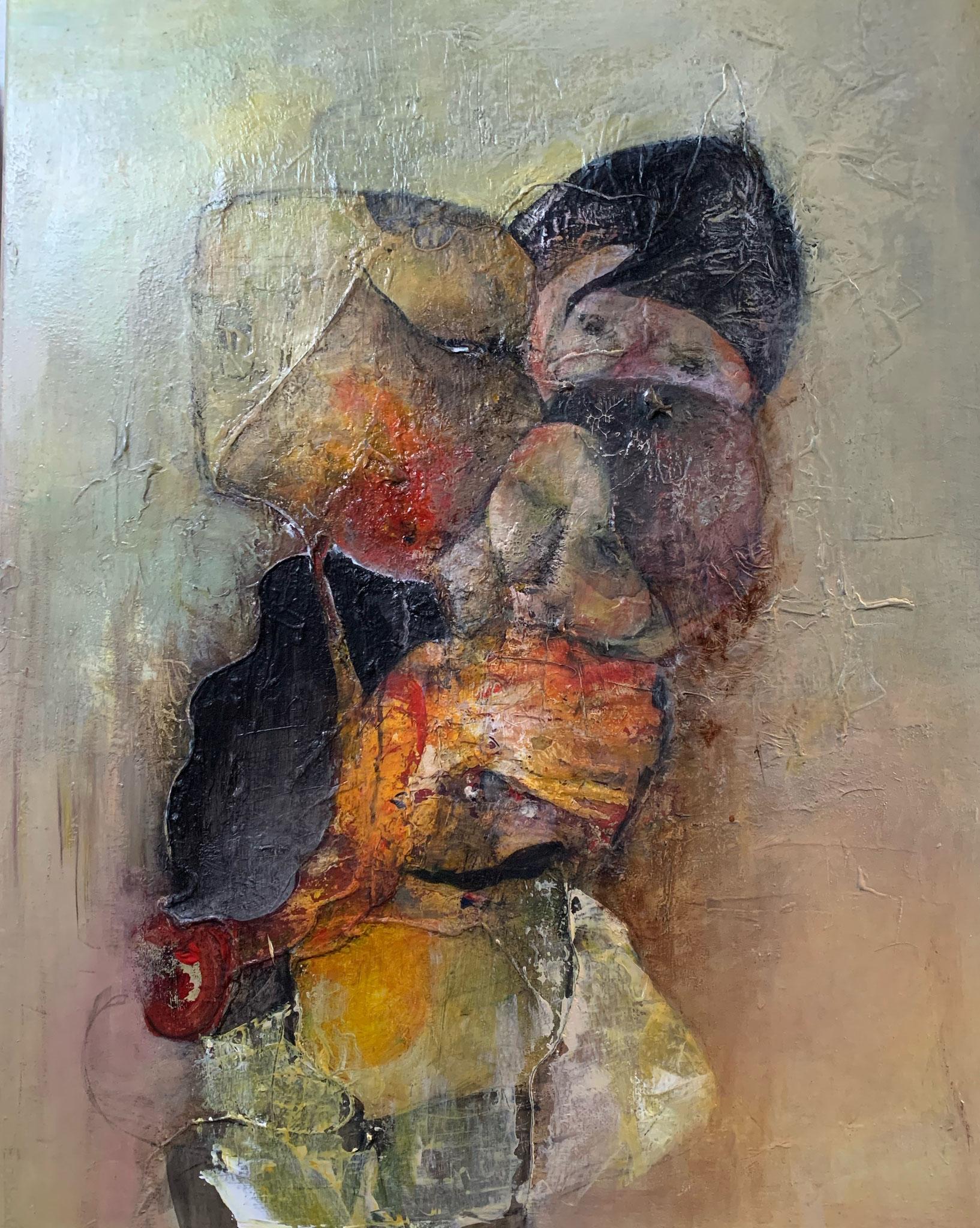 """""""Tendresse"""" Acrylique sur Toile 70 x 90 cm"""
