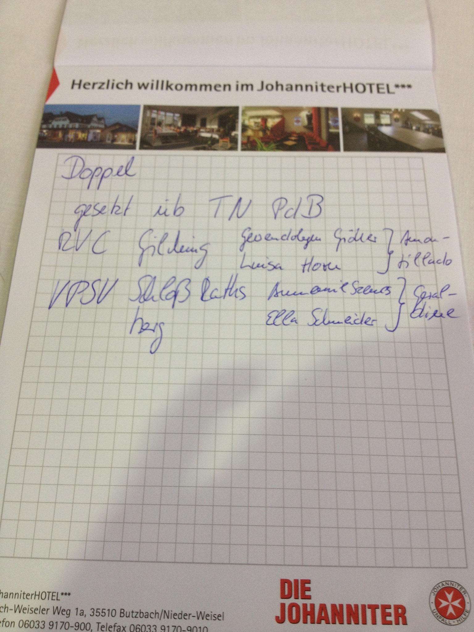 Die Landesbeauftragte Brigitte Ellinger hat's notiert.